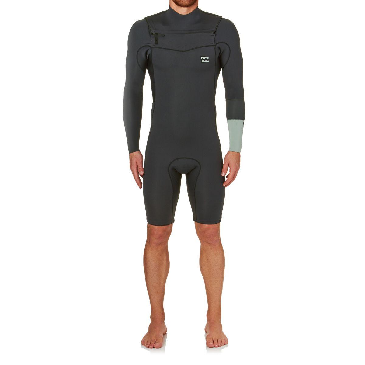 Billabong Revolution Tri Bong 2mm Long Sleeve Shorty Wetsuit - Black Sands