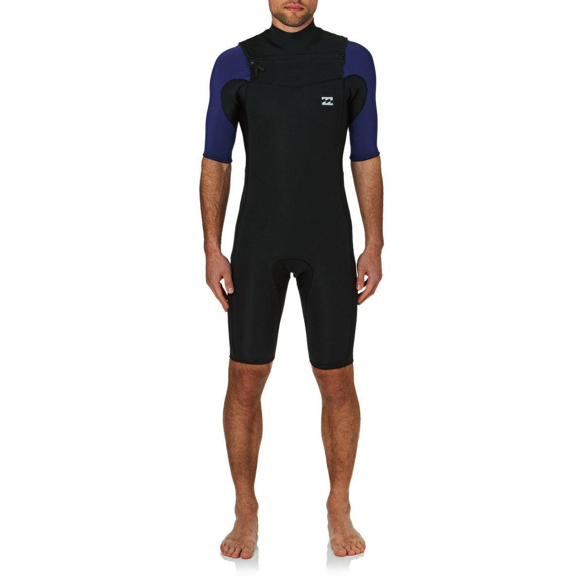 Billabong Revolution Tri Bong 2mm 2017 Short Sleeve Shorty Wetsuit - Navy
