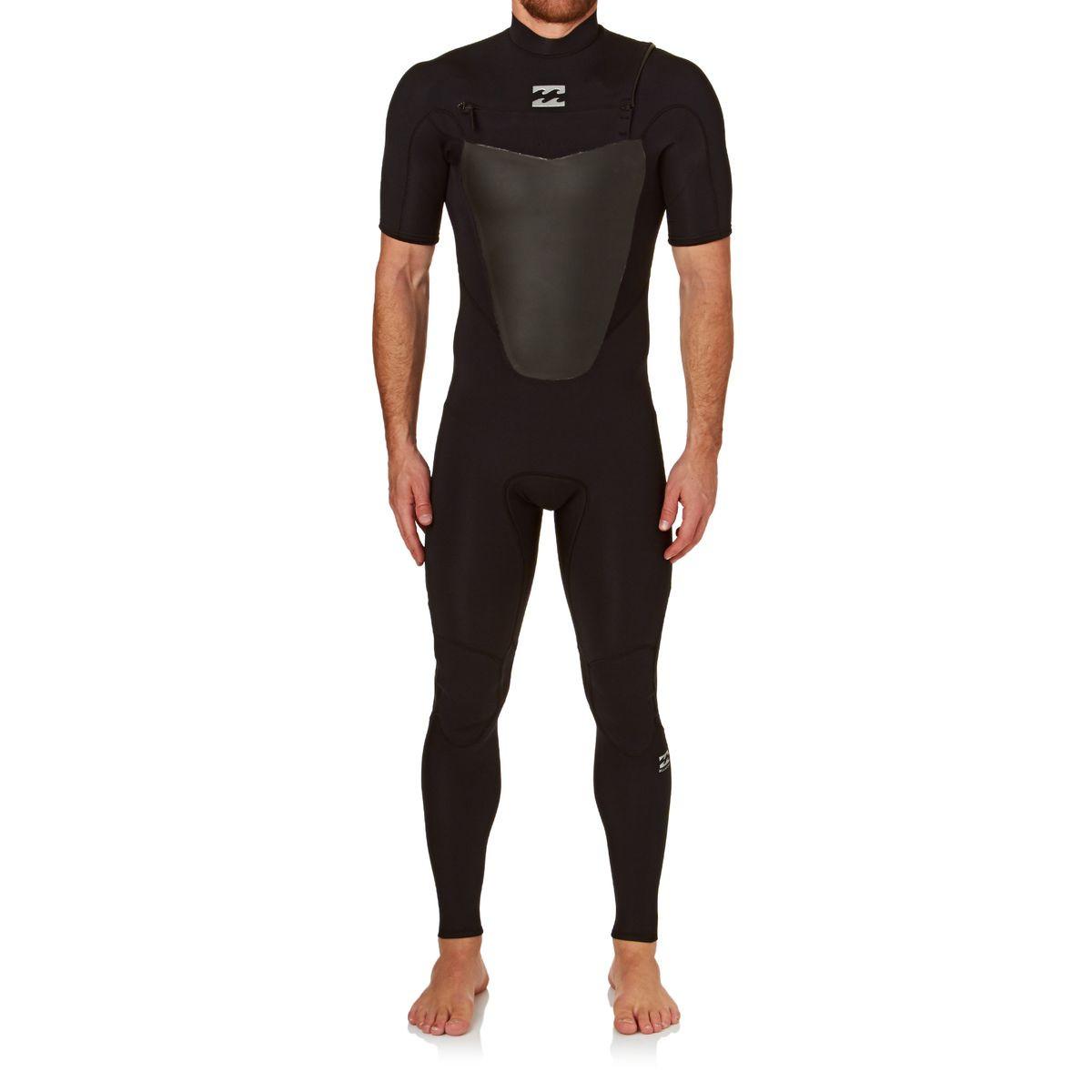Billabong Absolute Comp 2mm 2017 Chest Zip Short Sleeve Wetsuit - Black