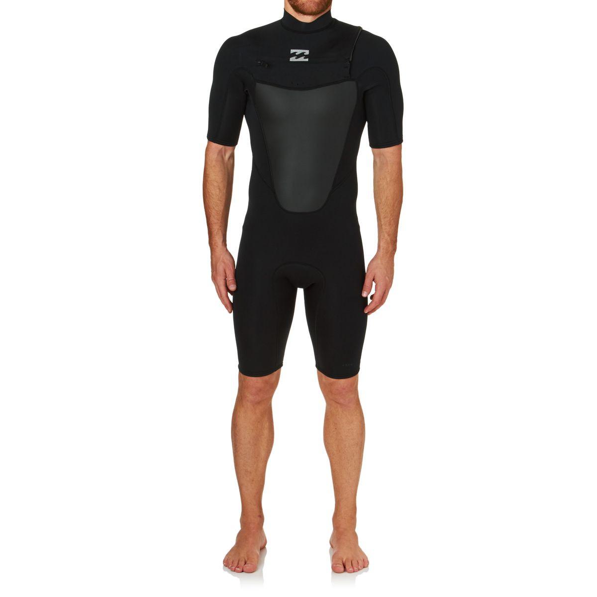 Billabong Absolute Comp 2mm 2017 Chest Zip Short Sleeve Shorty Wetsuit - Black