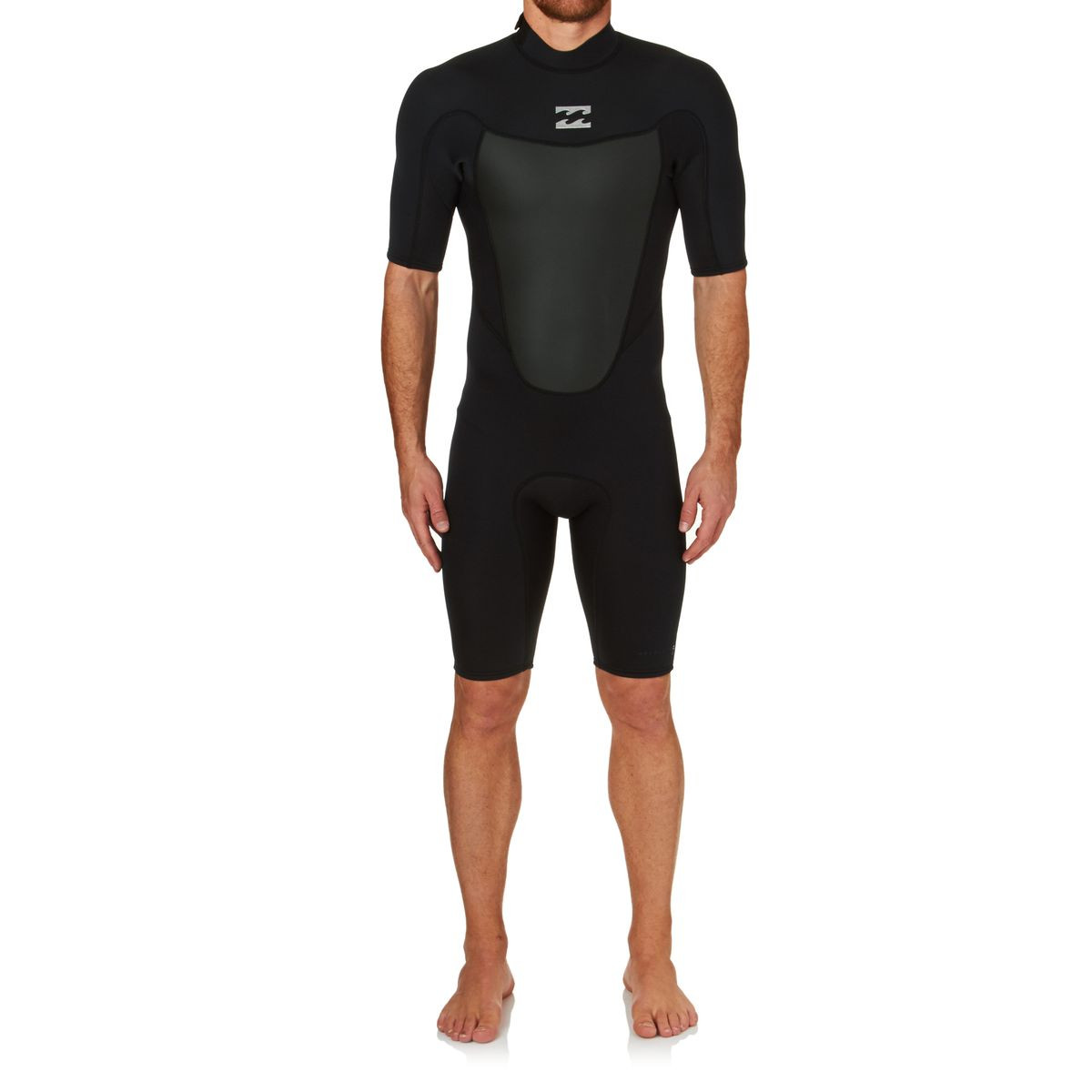 Billabong Absolute Comp 2mm 2017 Back Zip Short Sleeve Shorty Wetsuit - Black