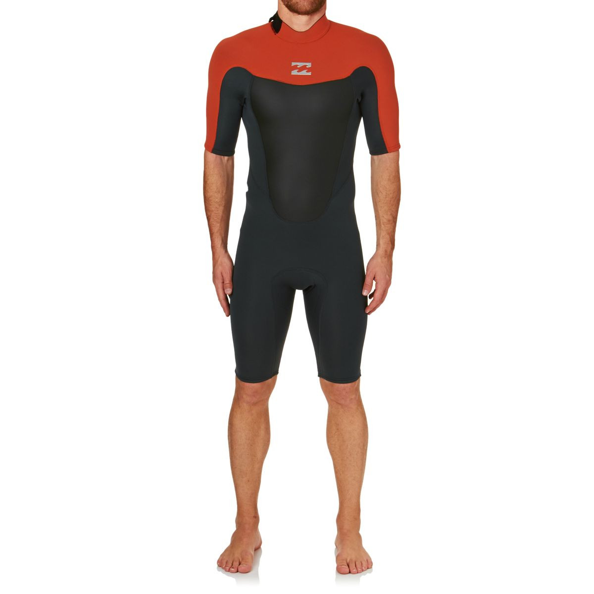 Billabong Absolute Comp 2mm 2017 Back Zip Short Sleeve Shorty Wetsuit - Orange