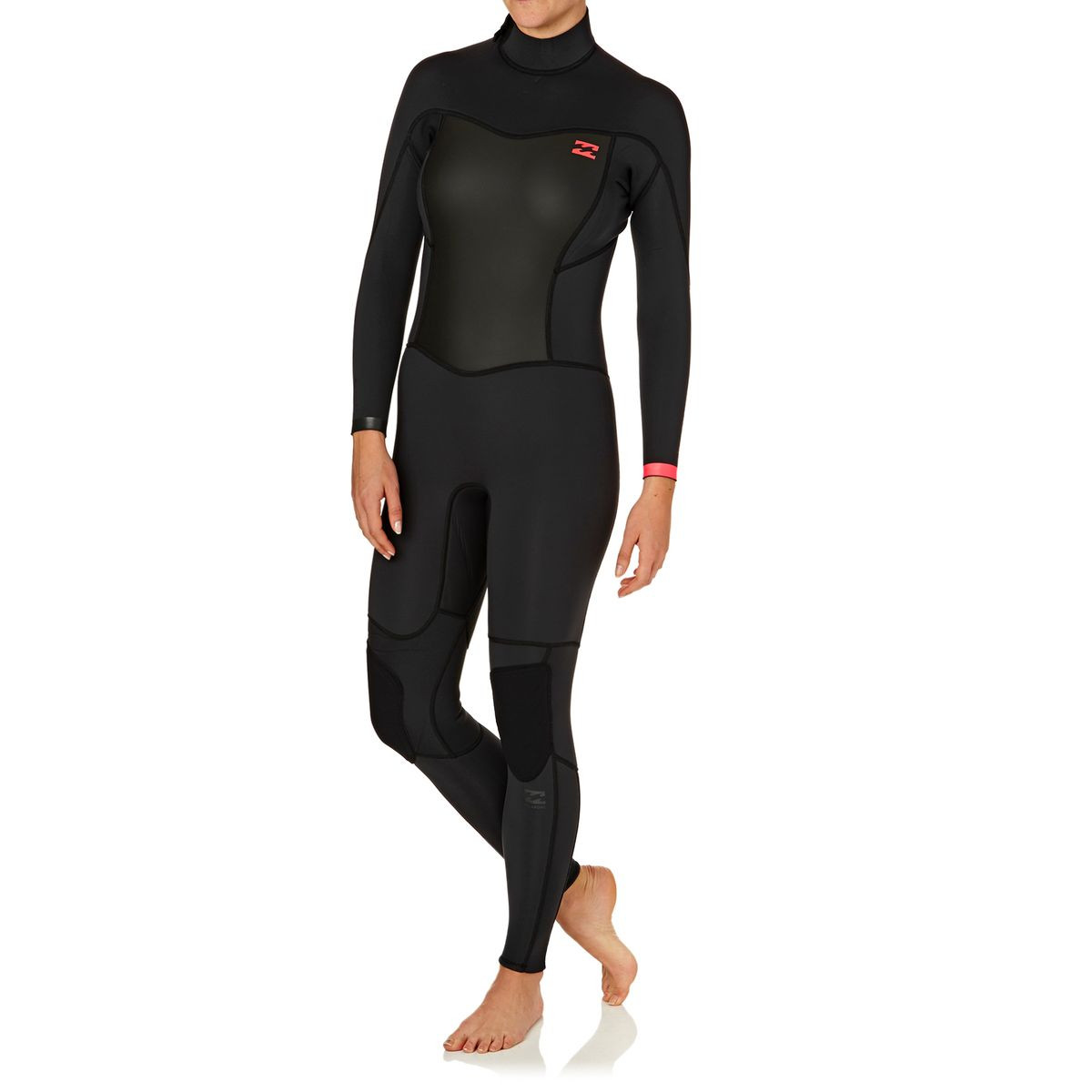 Billabong Womens Synergy 3/2mm 2017 Back Zip Wetsuit - Black Sands