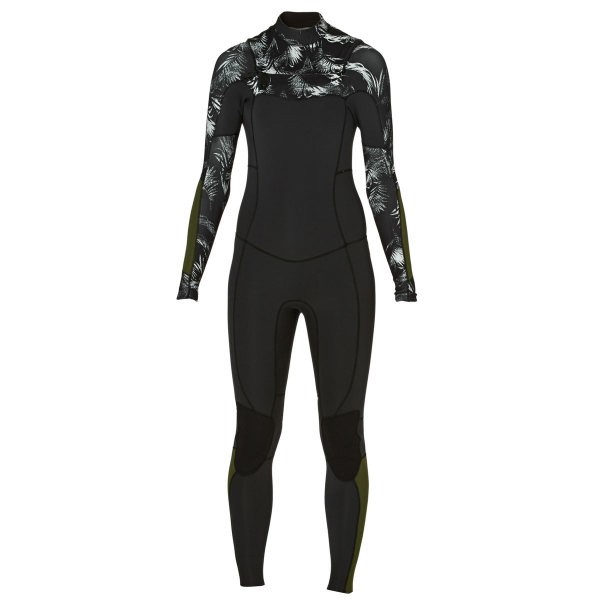 Billabong Womens Surf Capsule Salty Dayz 3/2mm Chest Zip Wetsuit - Black Sands