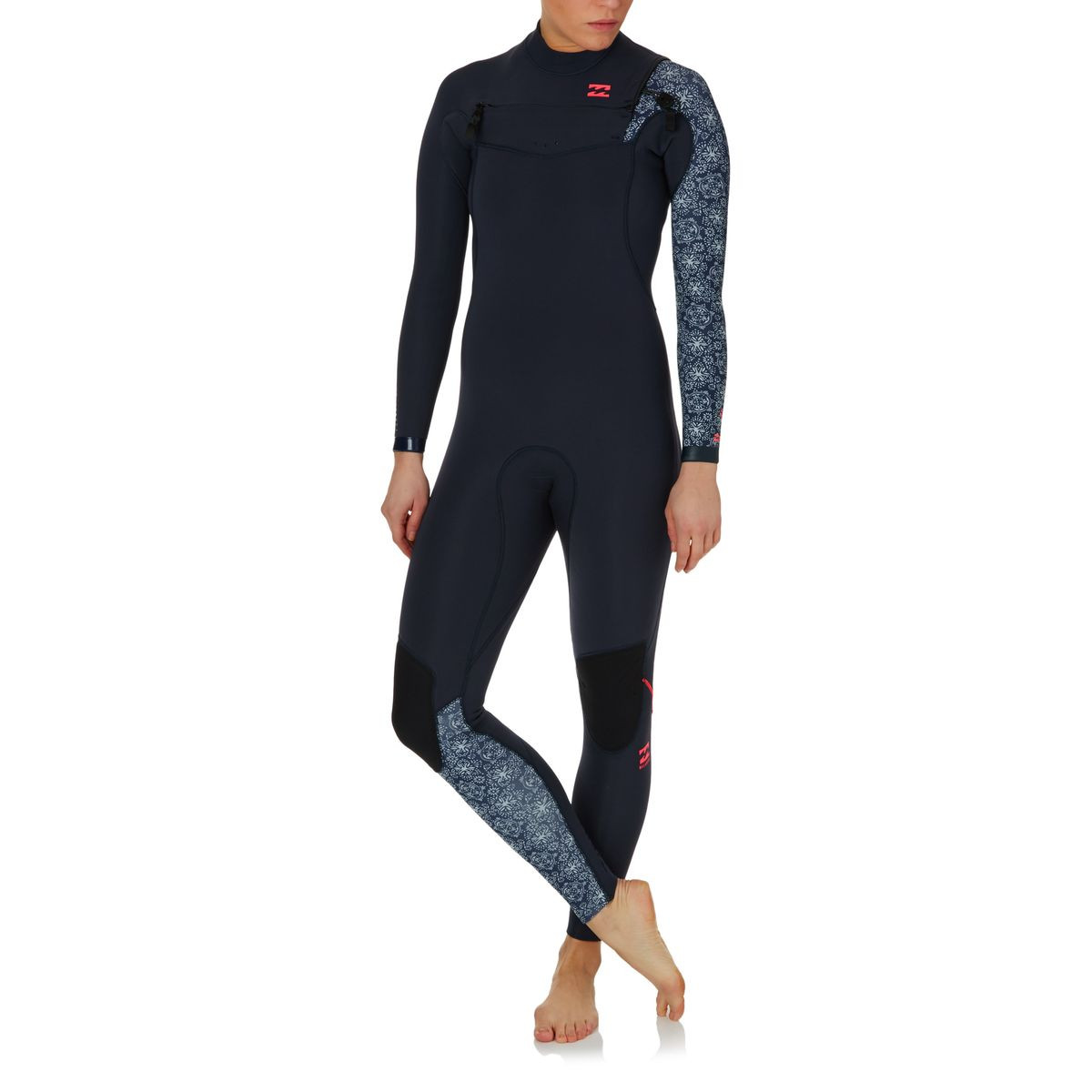 Billabong Womens Furnace Comp 3/2mm 2017 Chest Zip Wetsuit - Blue