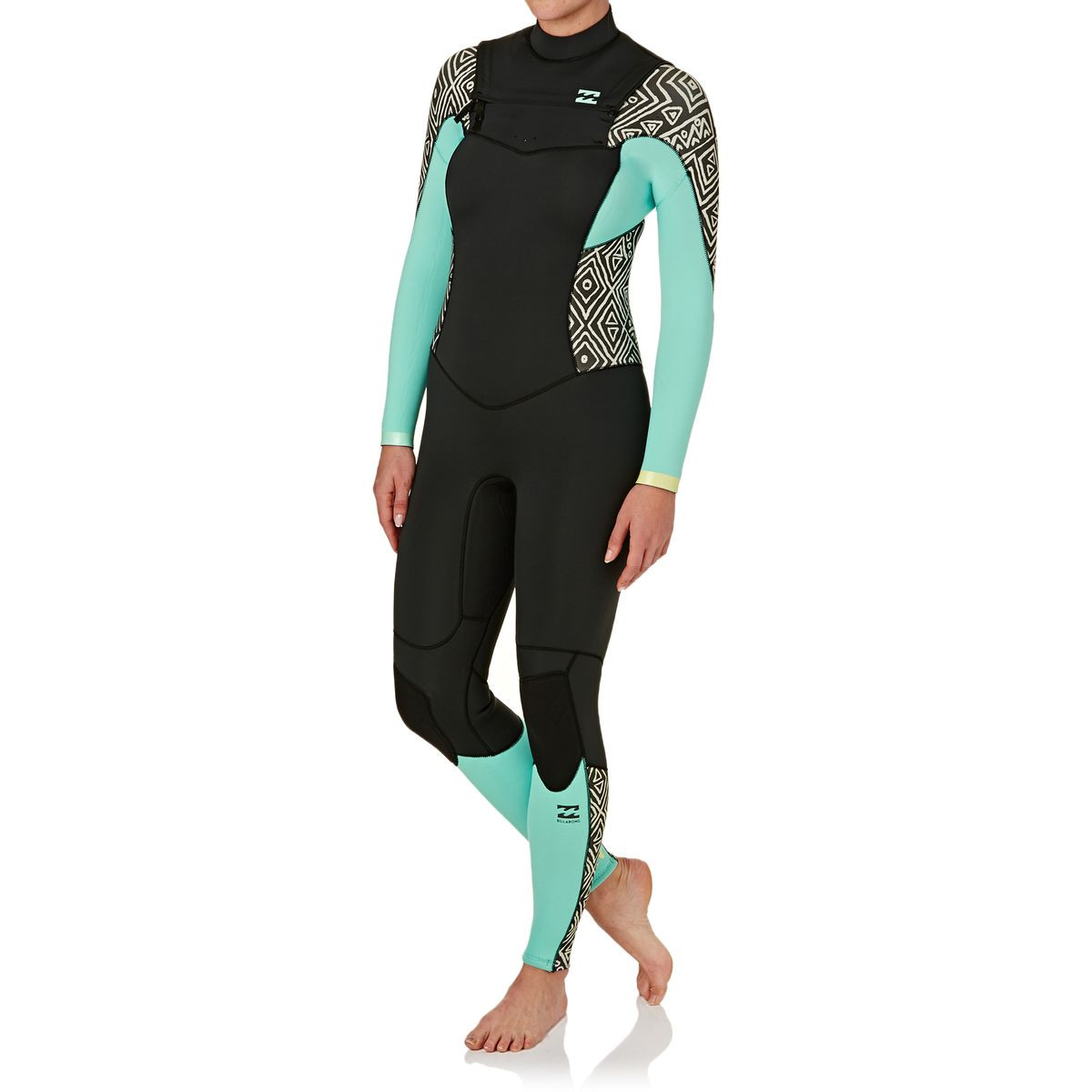 Billabong Womens Synergy 3/2mm 2017 Chest Zip Wetsuit - Geo Diamond