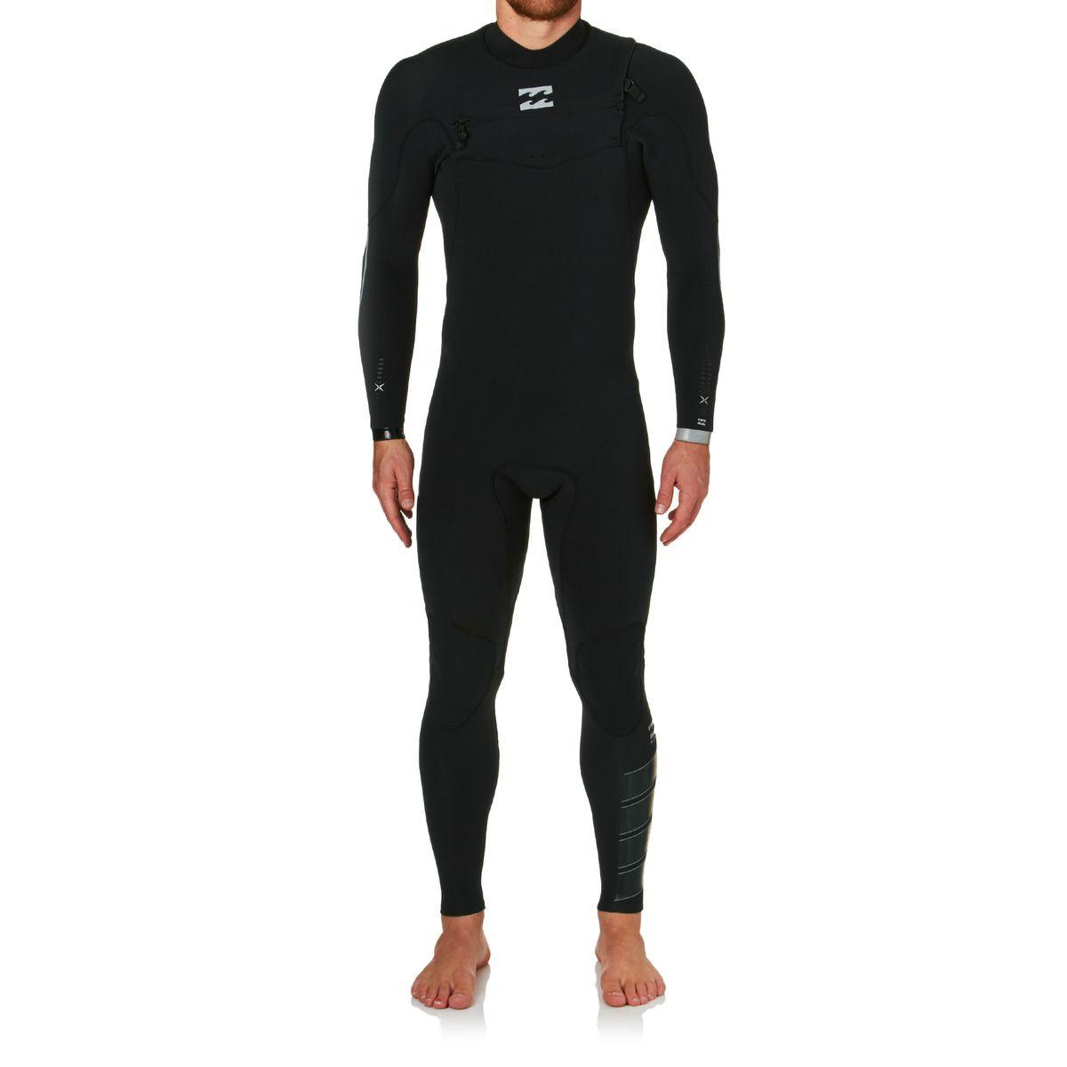 Billabong Furnace Comp 3/2mm Chest Zip Wetsuit - Black