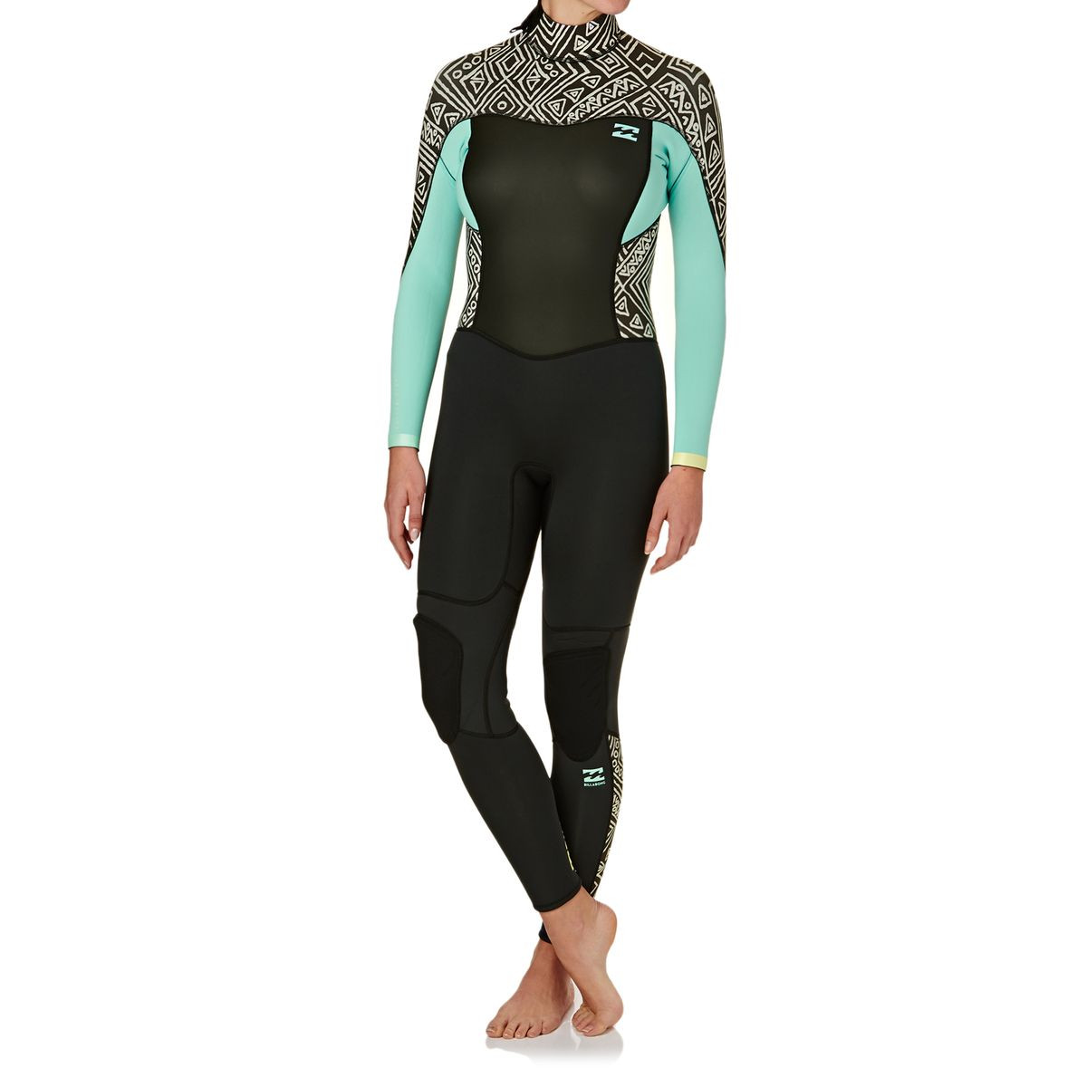Billabong Womens Synergy 4/3mm 2017 Back Zip Wetsuit - Geo Diamond