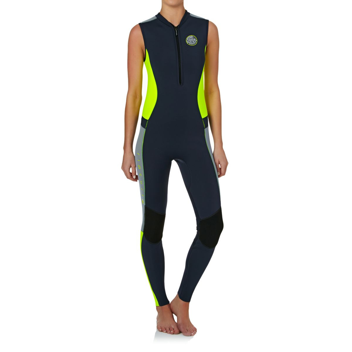 Rip Curl Womens G-bomb 1.5mm Front Zip Long Jane Wetsuit - Charcoal