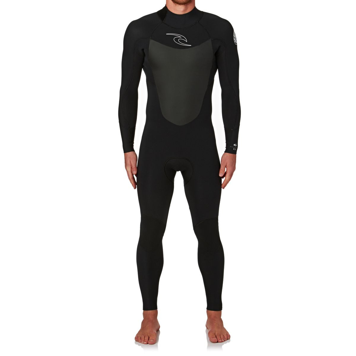 Rip Curl Dawn Patrol 3/2mm 2017 Back Zip Wetsuit - Black