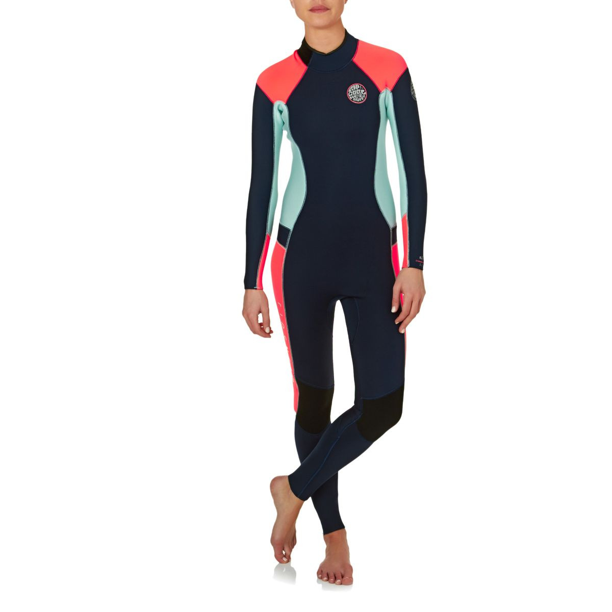Rip Curl Womens Dawn Patrol 3/2mm Back Zip Wetsuit - Navy