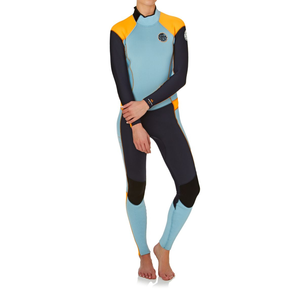 Rip Curl Womens Dawn Patrol 3/2mm Back Zip Wetsuit - Slate/ Orange