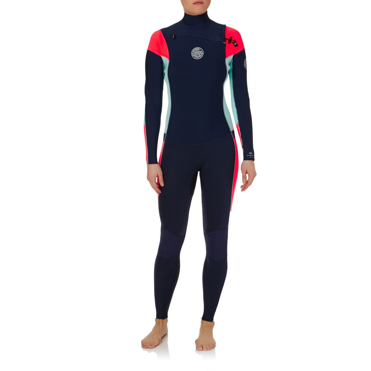 Rip Curl Womens Dawn Patrol 3/2mm 2017 Chest Zip Wetsuit - Navy