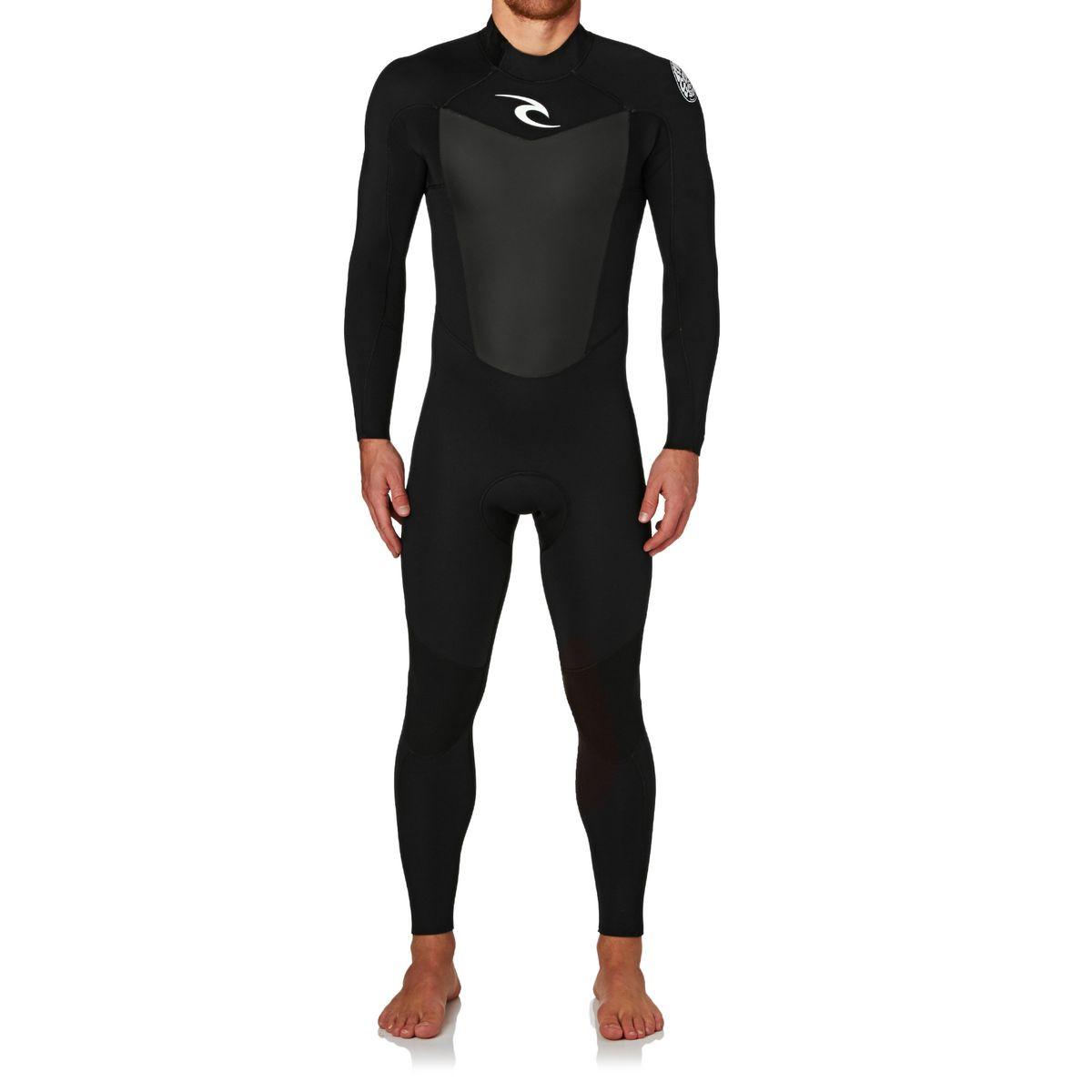 Rip Curl Omega 3/2mm 2017 Back Zip Wetsuit - Black