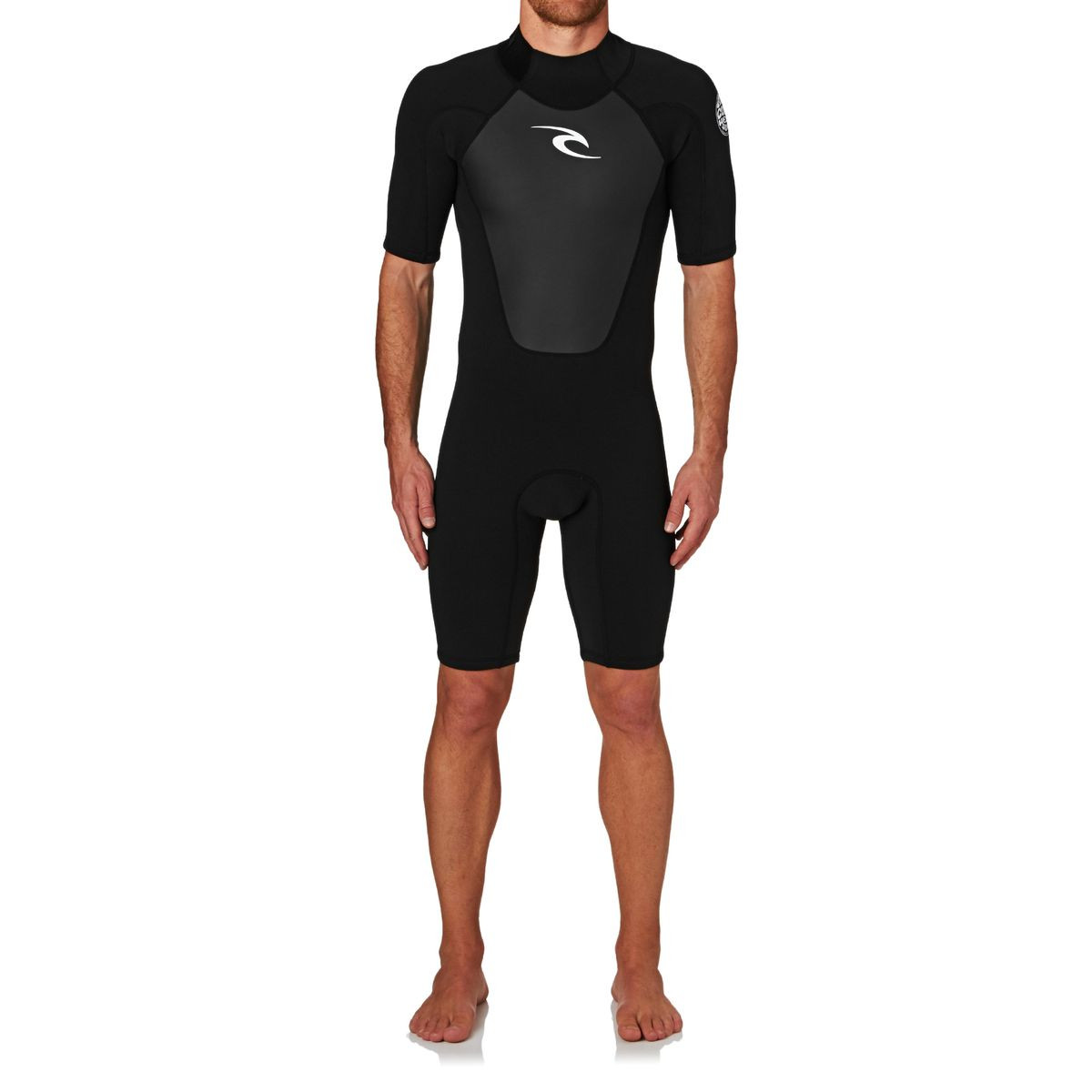 Rip Curl Omega 1.5mm 2017 Back Zip Short Sleeve Shorty Wetsuit - Black