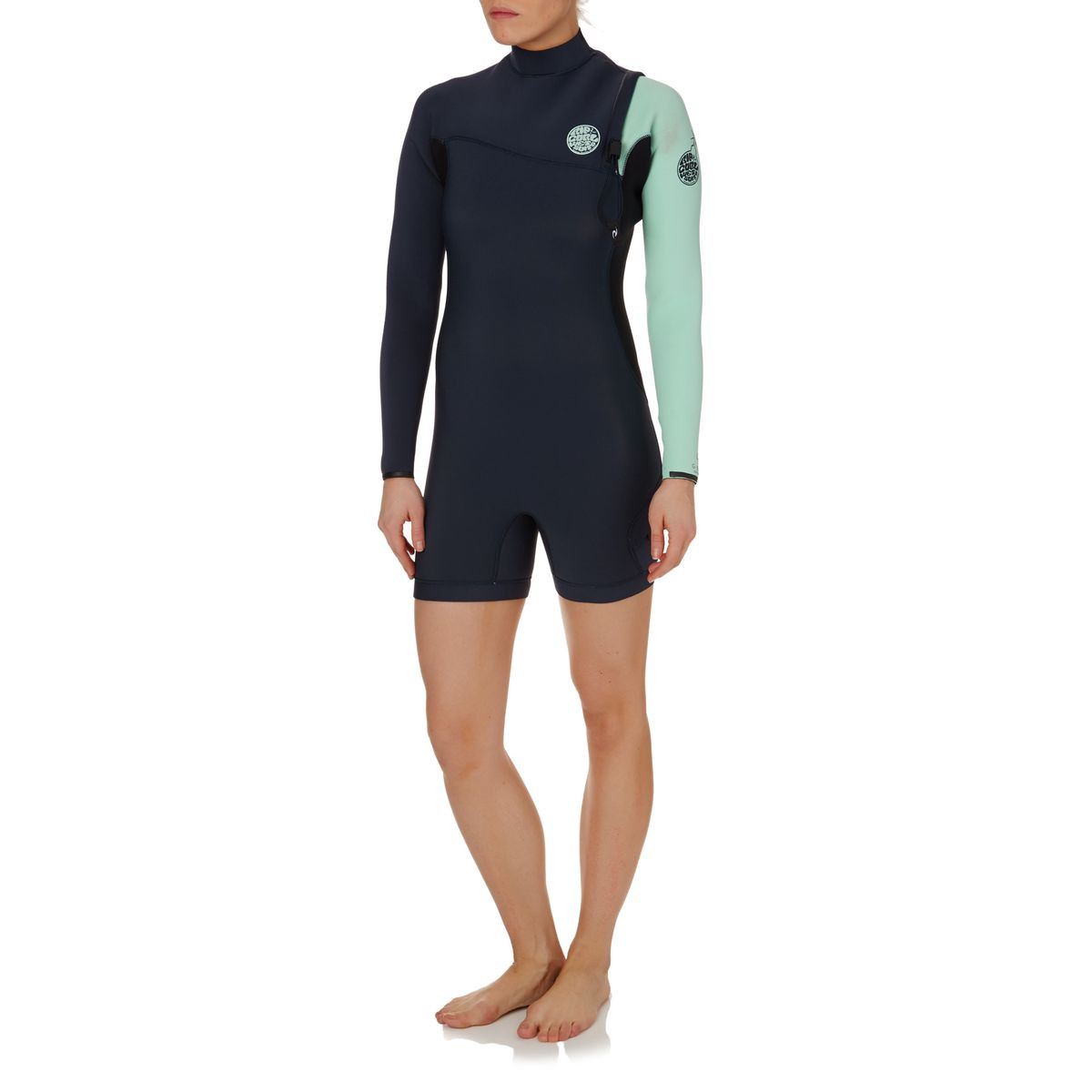 Rip Curl Womens G-bomb 2mm 2017 Zipperless Long Sleeve Shorty Wetsuit - Blue