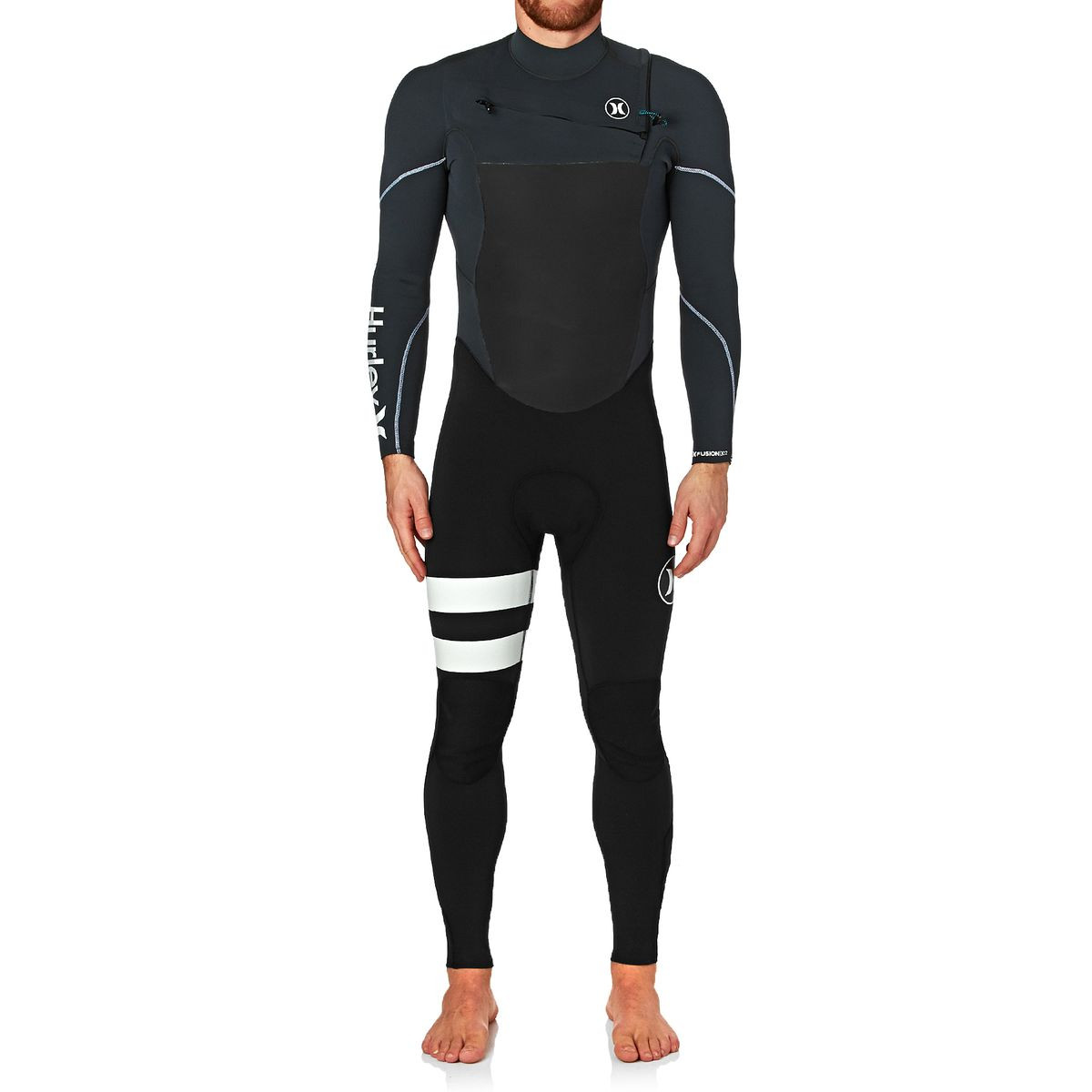 Hurley Fusion 3/2mm 2017 Chest Zip Wetsuit - Anthracite