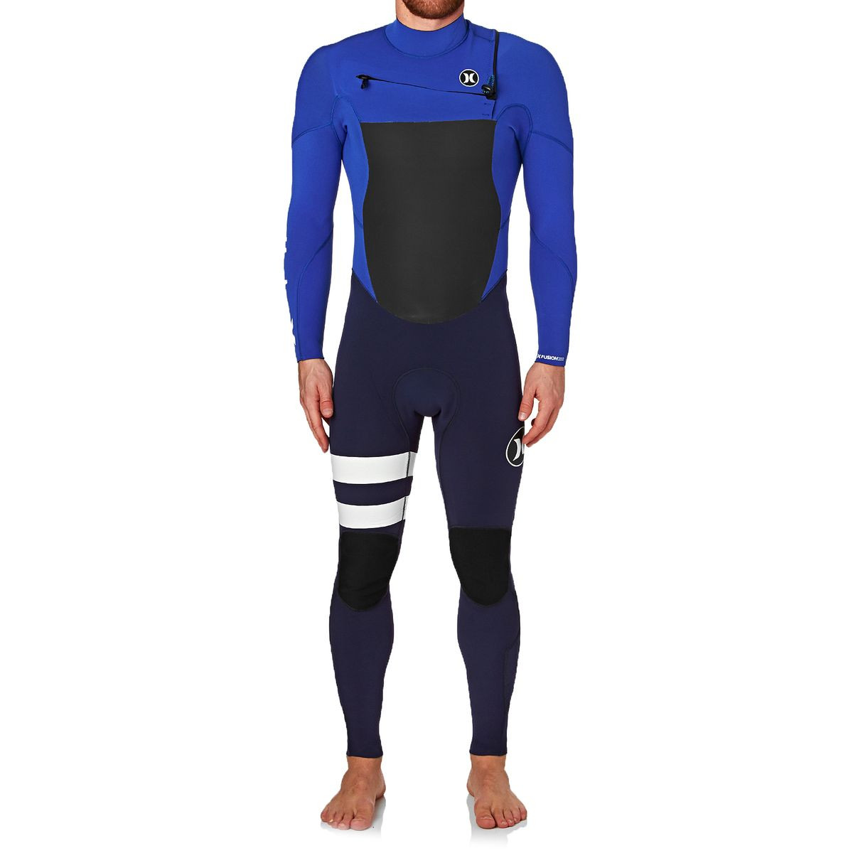 Hurley Fusion 3/2mm 2017 Chest Zip Wetsuit - Racer Blue