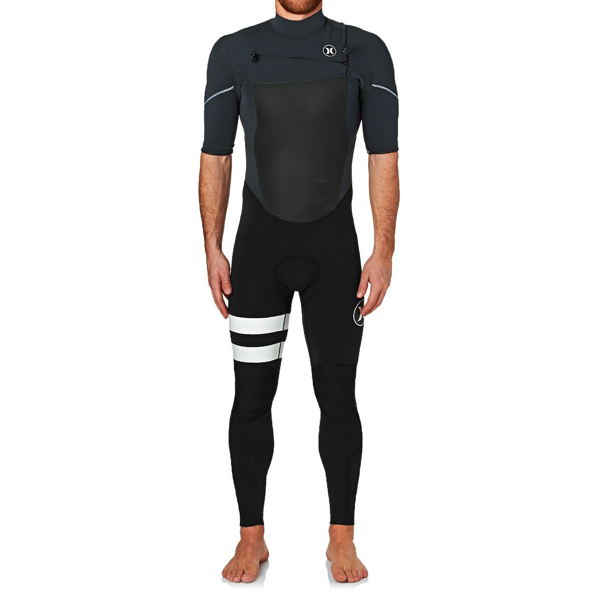 Hurley Fusion 2mm 2017 Chest Zip Short Sleeve Wetsuit - Anthracite
