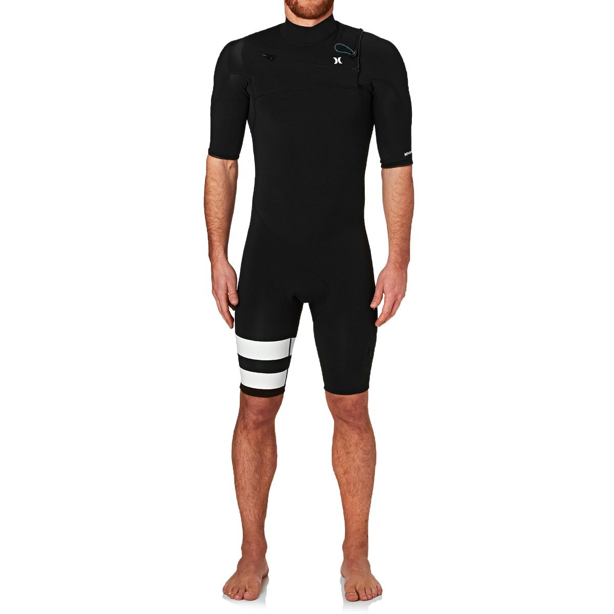 Hurley Fusion 2mm 2017 Chest Zip Short Sleeve Shorty Wetsuit - Black
