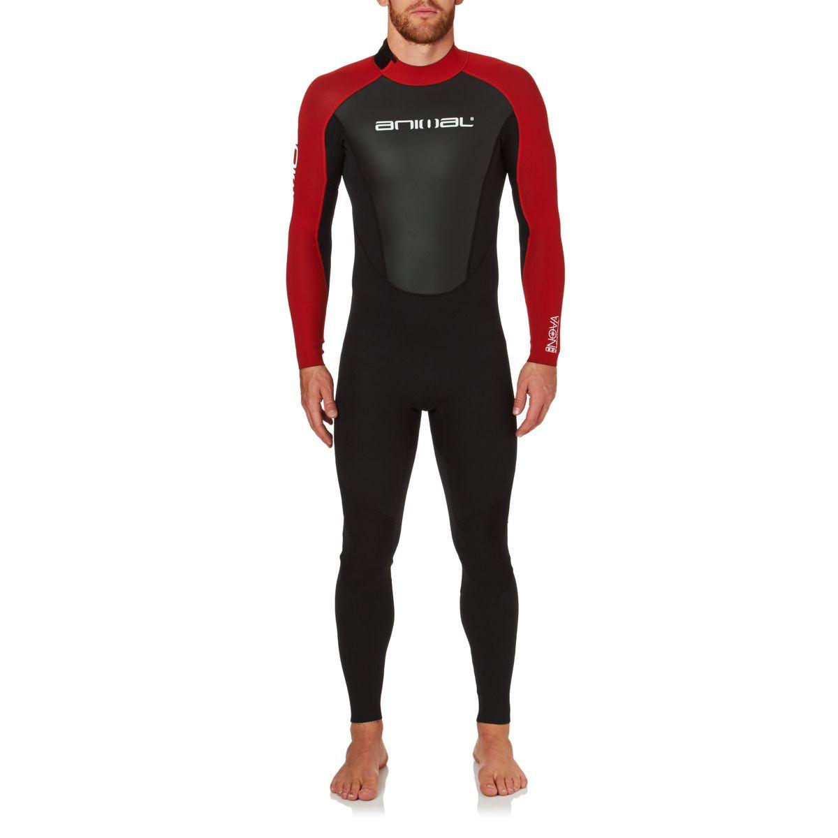 Animal Mens Nova 3/2mm 2017 Back Zip Wetsuit - Bright Red