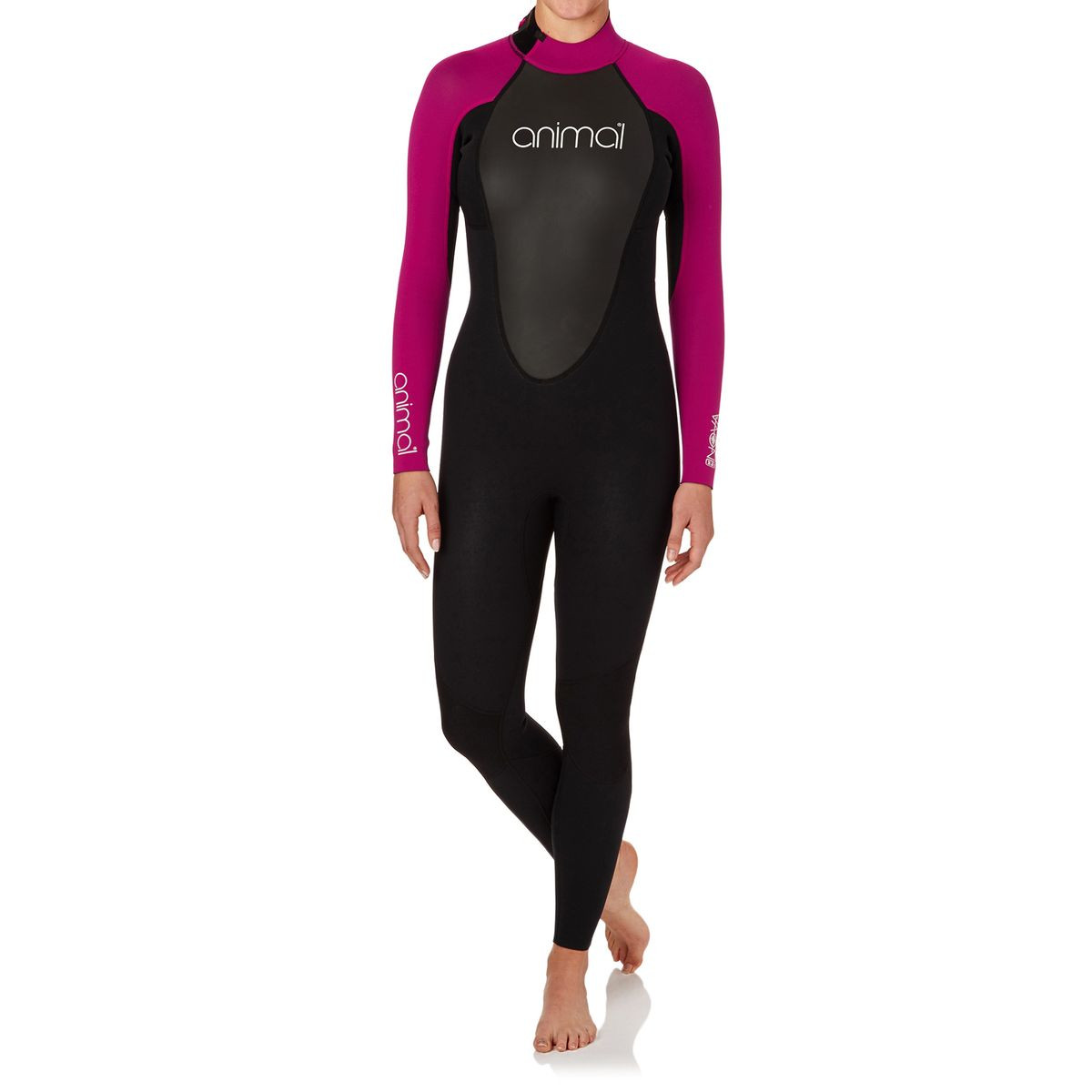 Animal Womens Nova 3/2mm Back Zip Wetsuit - Indian Berry Pink