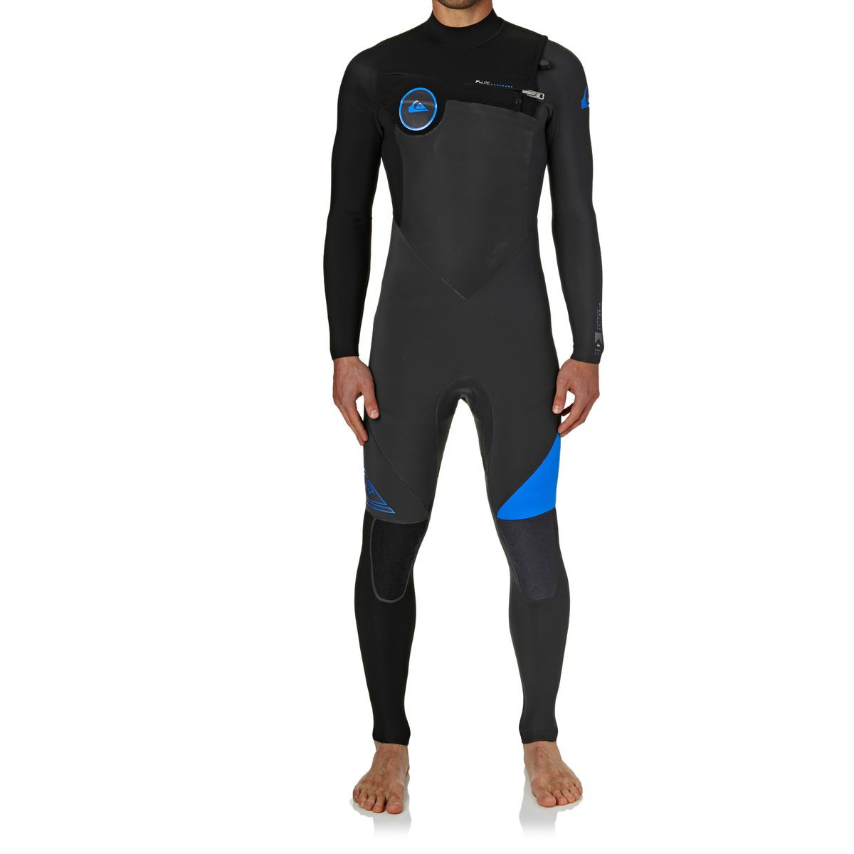Quiksilver Highline Performance 3/2mm Chest Zip Wetsuit - Graphite/ Cyan