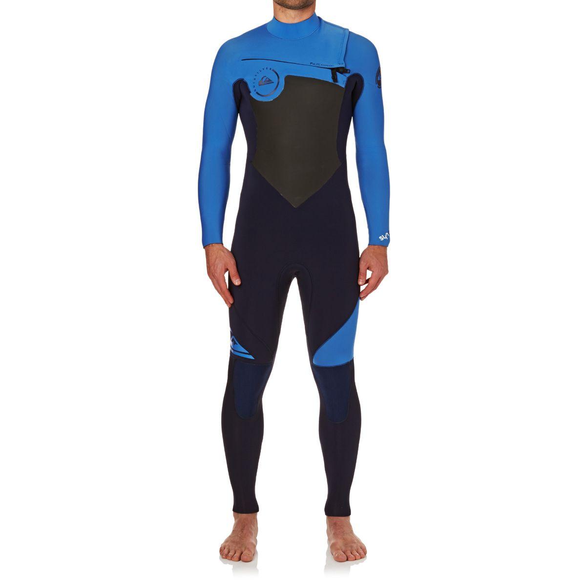 Quiksilver Syncro 4/3mm 2017 Chest Zip Wetsuit - Navy Blazer