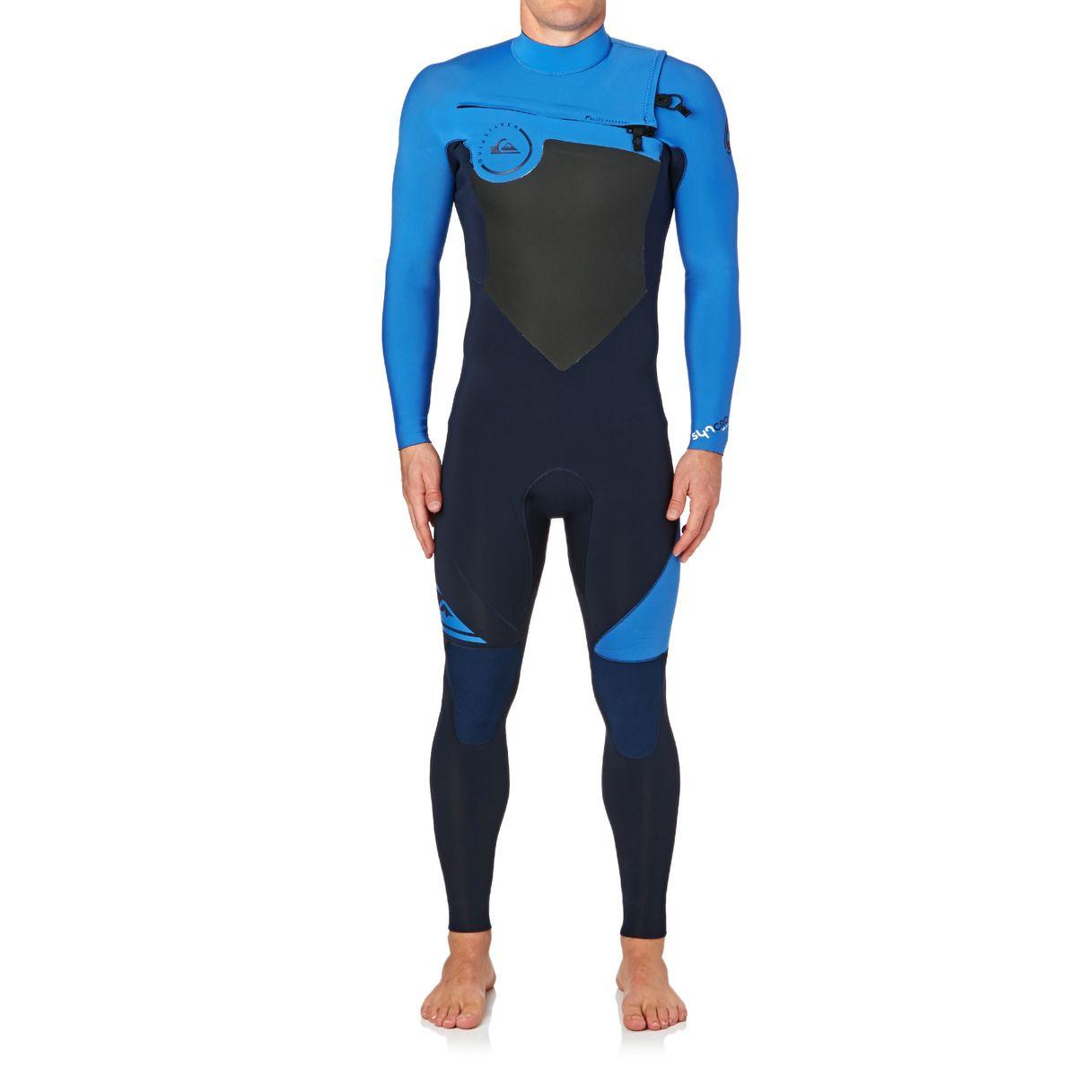 Quiksilver Syncro 3/2mm 2017 Chest Zip Wetsuit - Navy Blazer