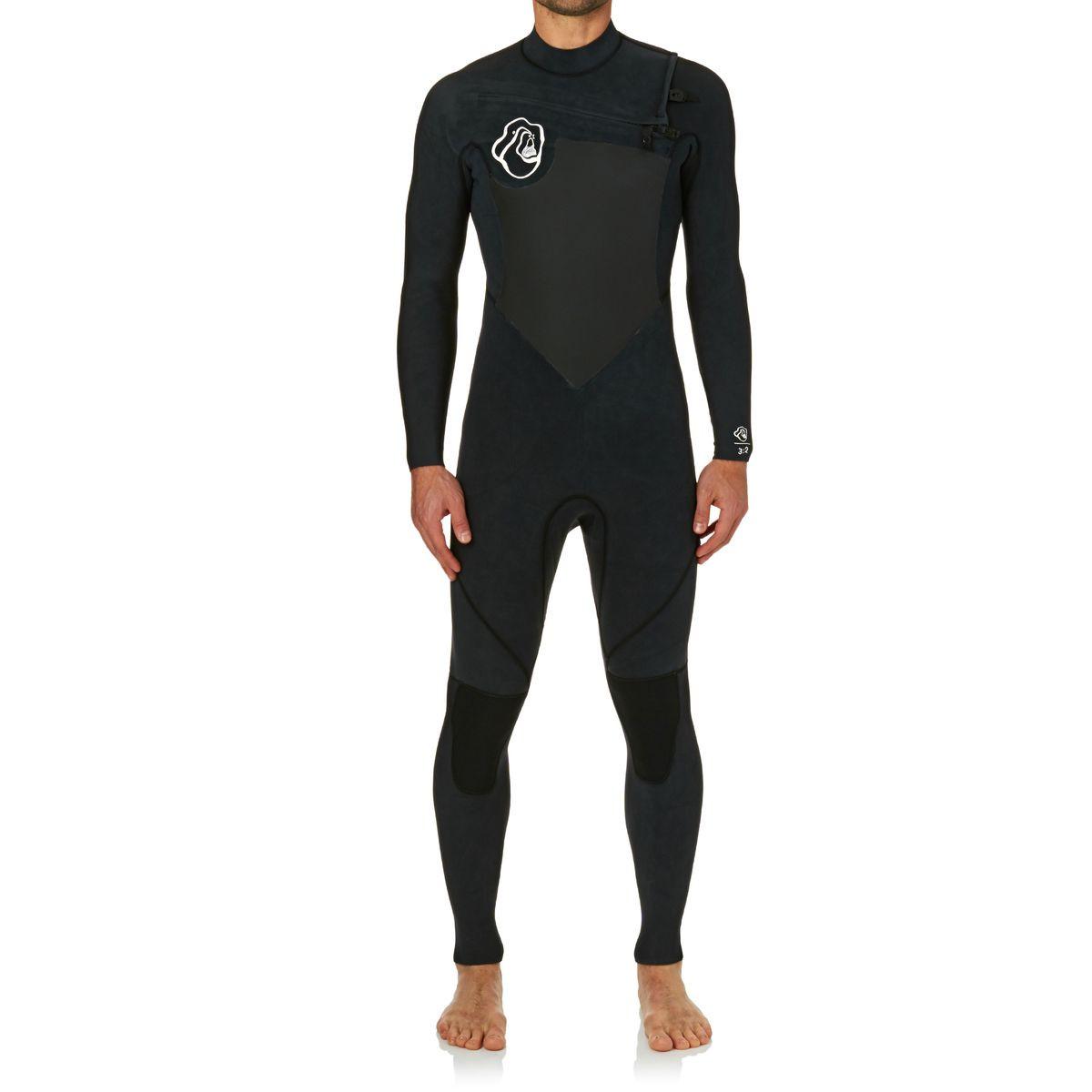 Quiksilver High Dye 3/2mm 2017 Chest Zip Wetsuit - Black