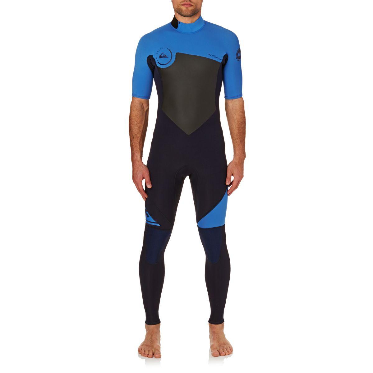 Quiksilver Syncro 2mm 2017 Short Sleeve Back Zip Wetsuit - Navy Blazer