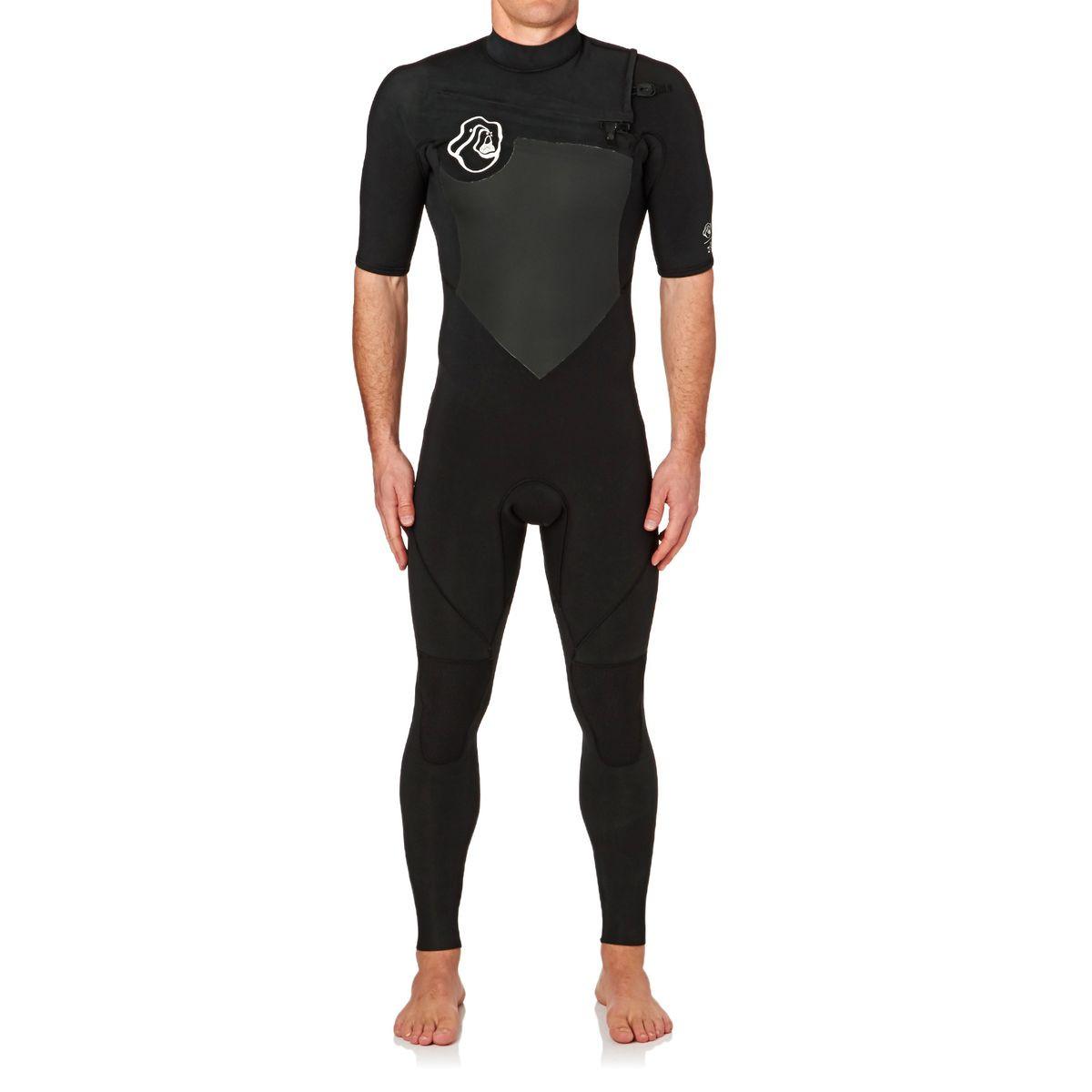 Quiksilver High Dye 2mm 2017 Chest Zip Short Sleeve Wetsuit - Black