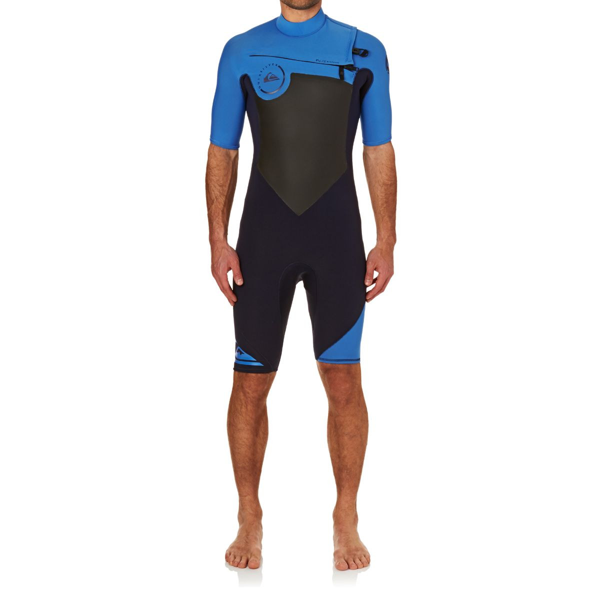 Quiksilver Syncro 2mm 2017 Chest Zip Shorty Wetsuit - Navy Blazer