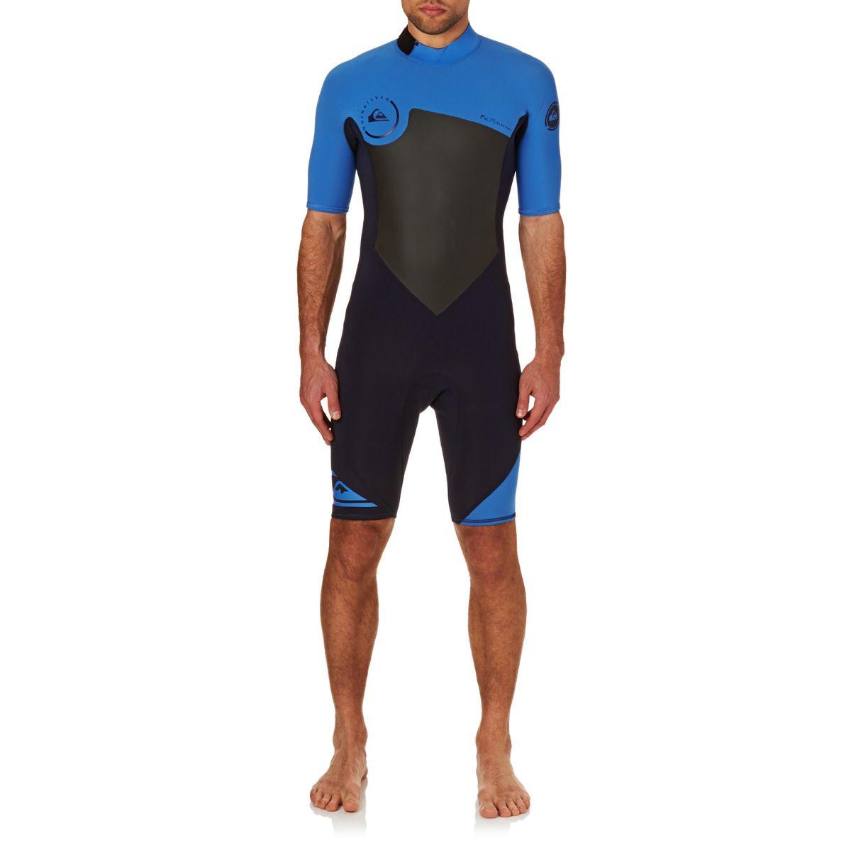 Quiksilver Syncro 2mm 2017 Back Zip Shorty Wetsuit - Navy Blazer