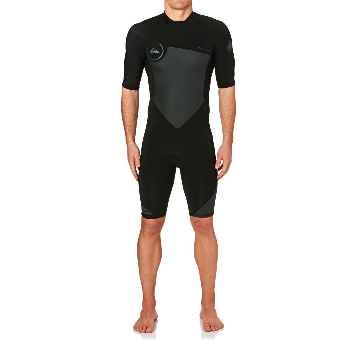 Quiksilver Syncro 2mm 2017 Back Zip Short Sleeve Shorty Wetsuit - Black