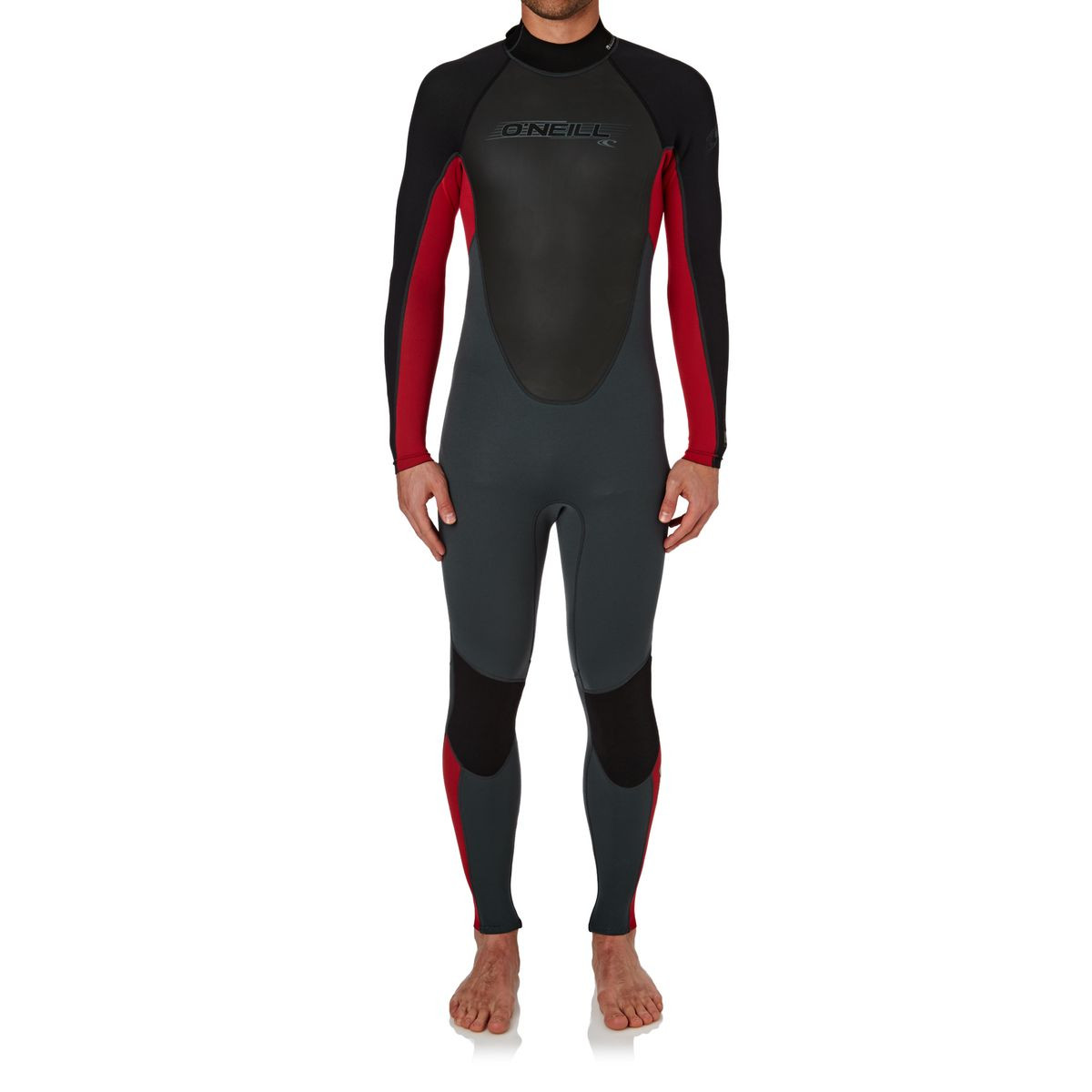 O'Neill Reactor 3/2mm 2017 Back Zip Wetsuit - Graphite/ Red/ Black