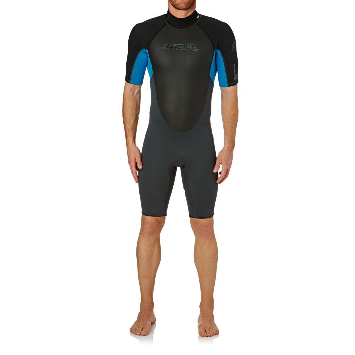 O'Neill Reactor 2mm Short Sleeve Shorty Wetsuit - Graphite/ Tahiti/ Black