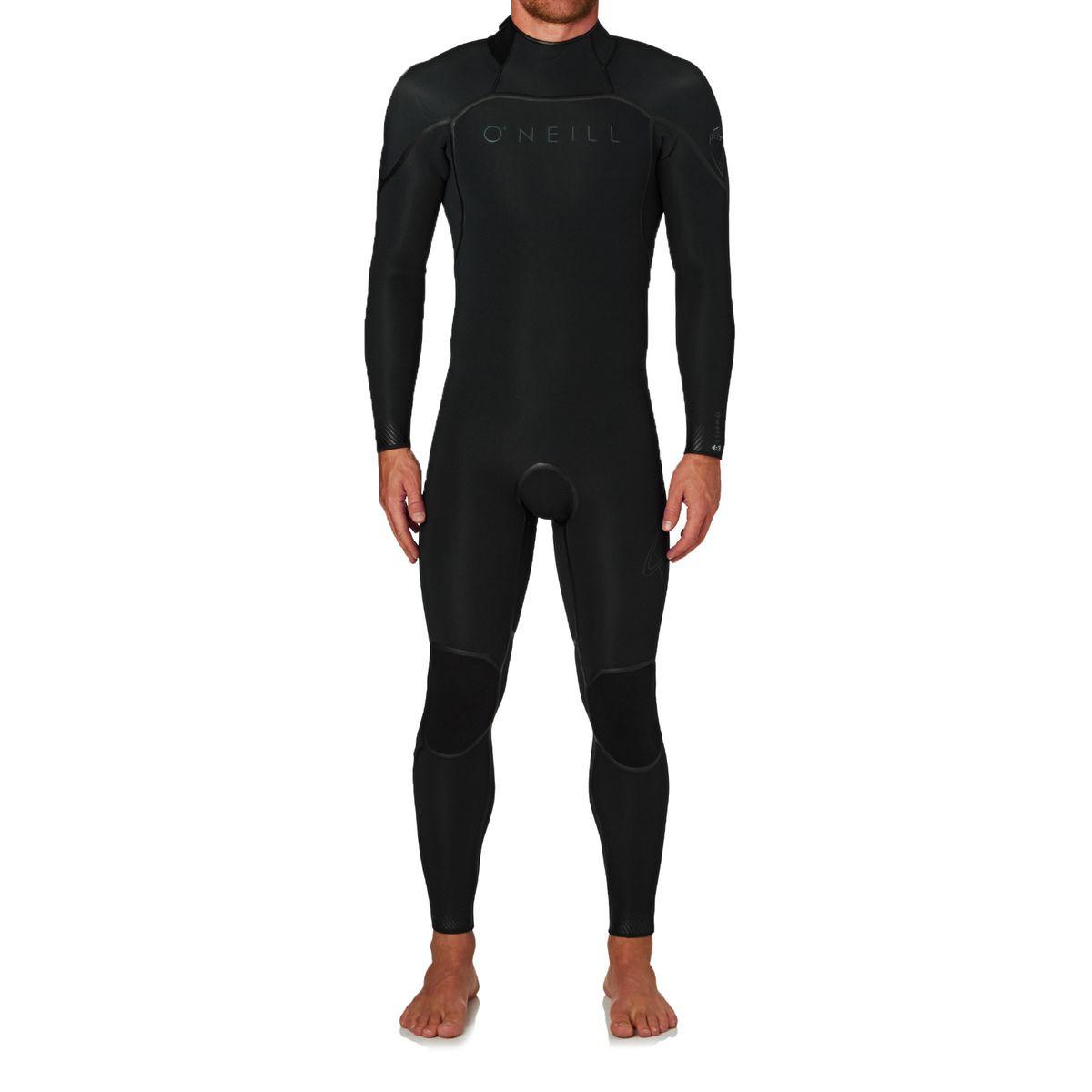O'Neill Psycho One 4/3mm 2017 Back Zip Wetsuit - Black/ Black/ Graphite