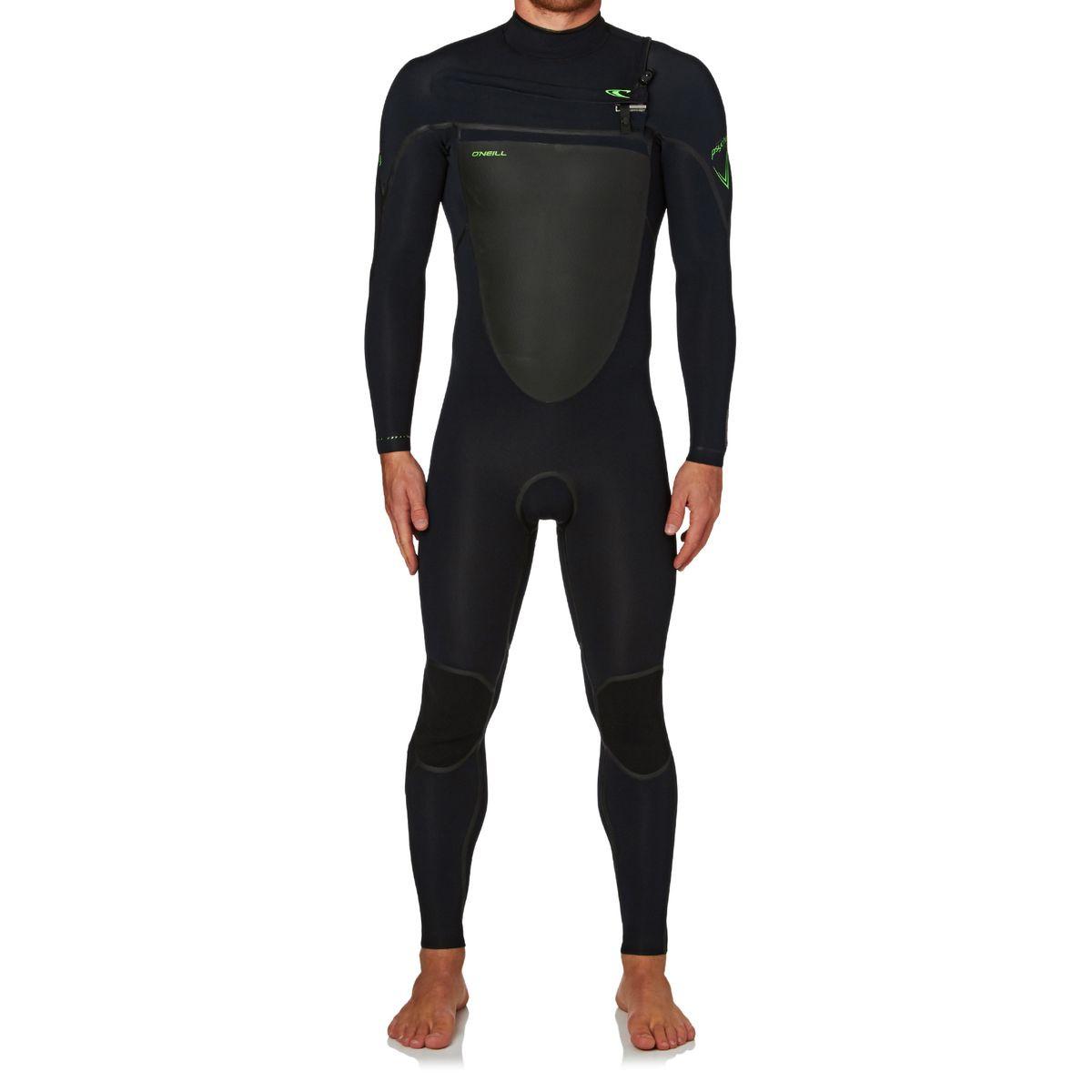 O'Neill Psycho Tech 3/2mm 2017 Chest Zip Wetsuit - Black/ Black/ Dayglow