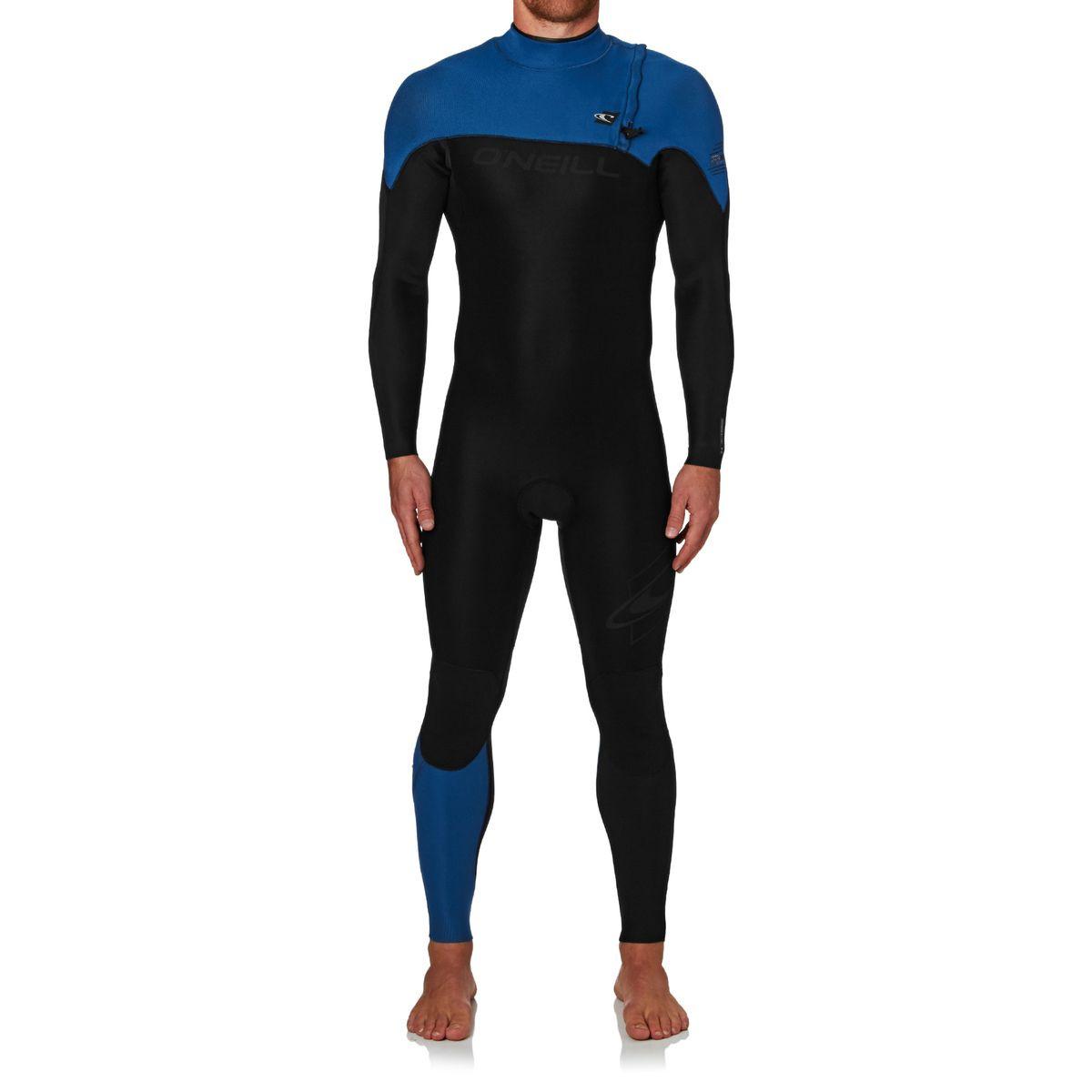 O'Neill Hyperfreak Comp 3/2 2017 Zipperless Wetsuit - Black/ Deep Sea/ Deep Sea