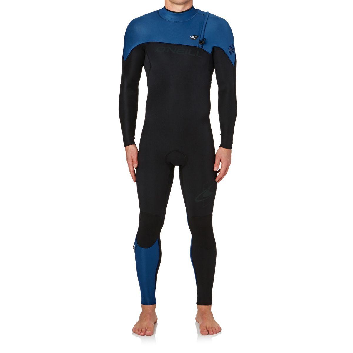 O'Neill Hyperfreak Comp 4/3mm 2017 Zipperless Wetsuit - Black/ Deep Sea/ Deep Sea