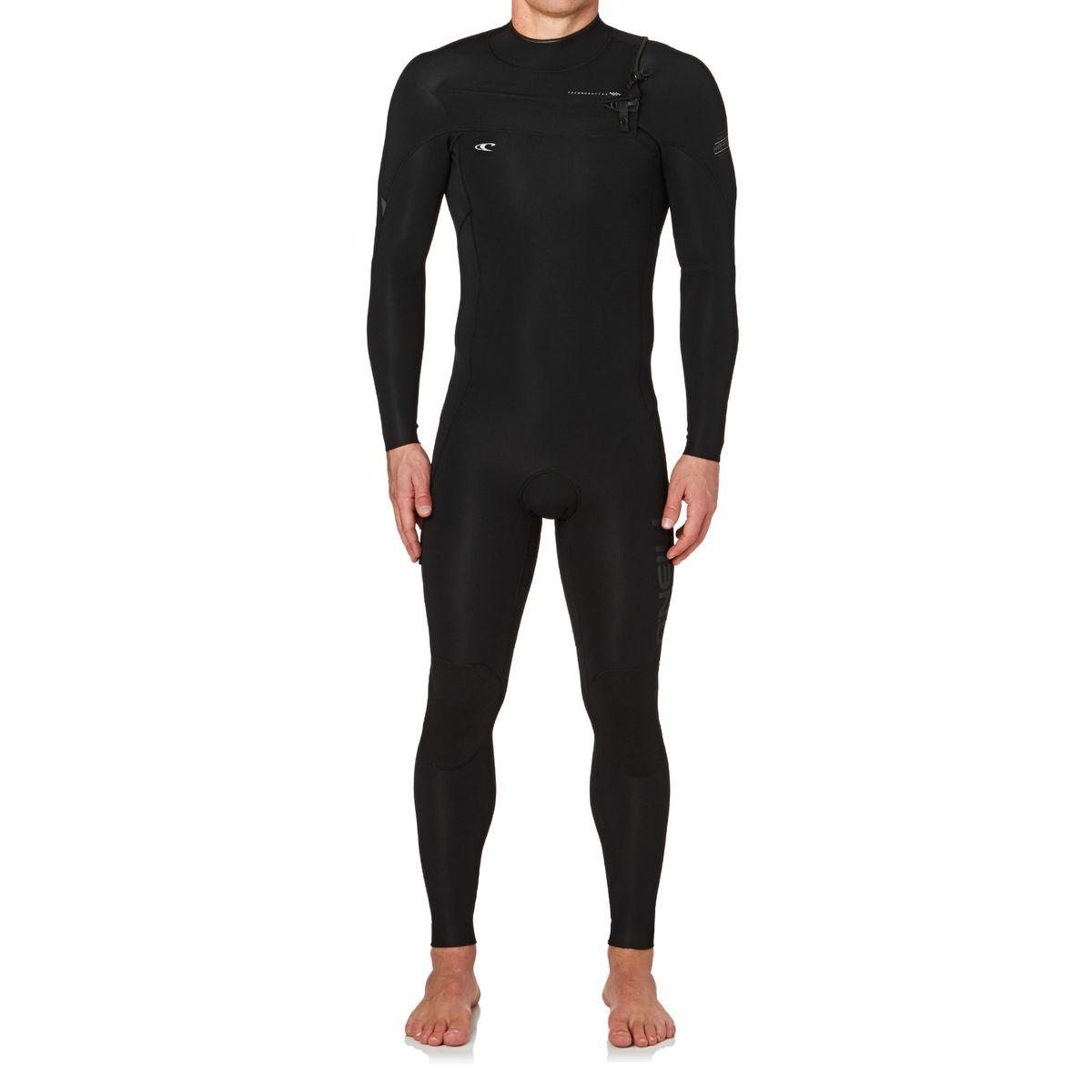 O'Neill Hyperfreak 3/2mm 2017 Chest Zip Wetsuit - Black/ Black/ Graphite