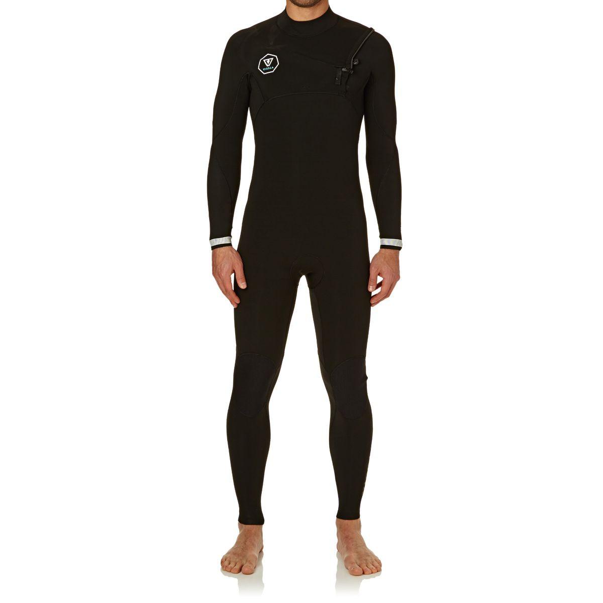 Vissla Seven Seas 2mm 2017 Chest Zip Wetsuit - Black With White