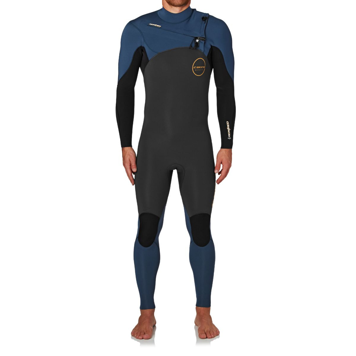 C-Skins Re-Wired 3/2mm 2017 Chest Zip Wetsuit - Gunmetal/ Black/ Steel Blue