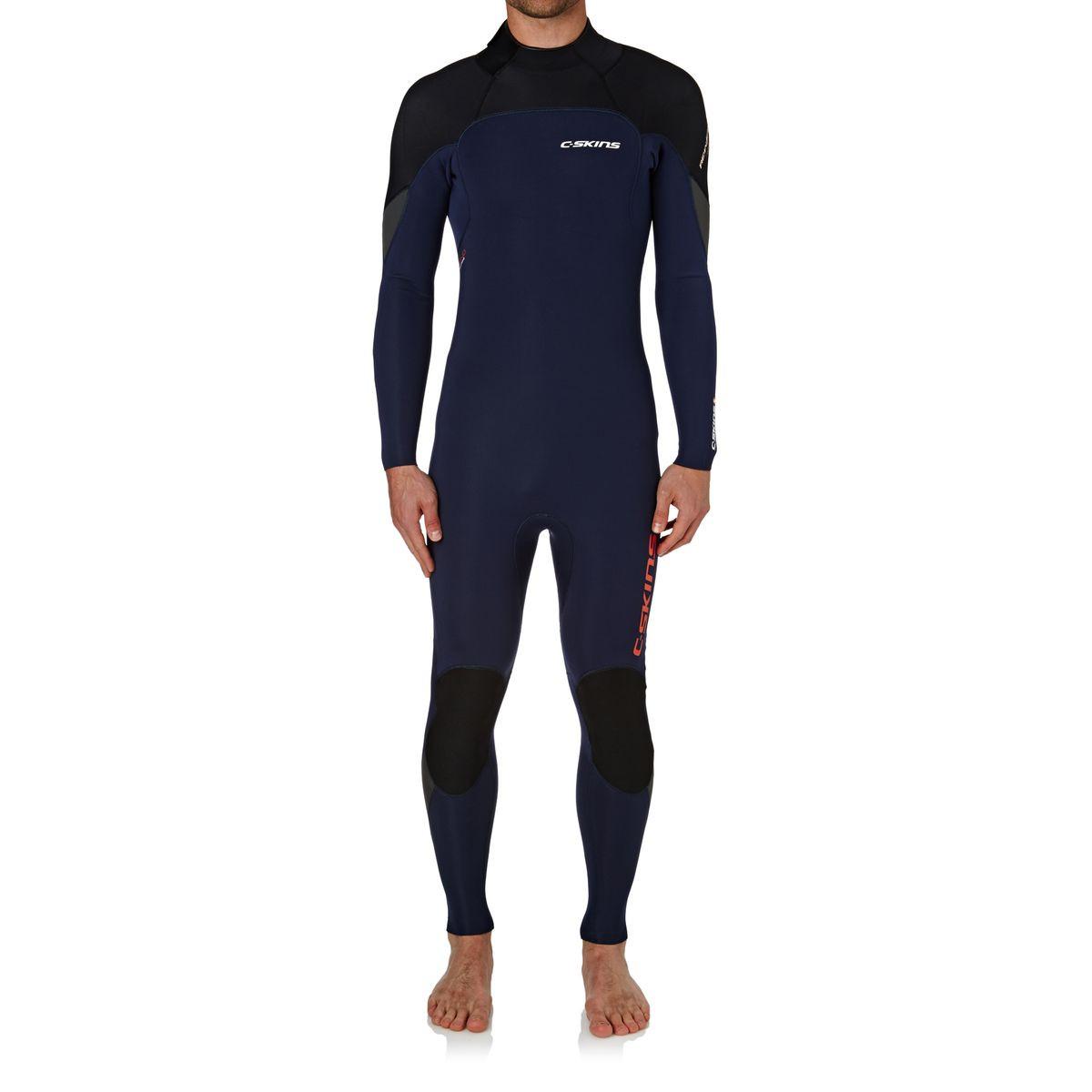 C-Skins Re-Wired 3/2mm 2017 Back Zip Wetsuit - Ink Blue/ Black/ Gunmetal