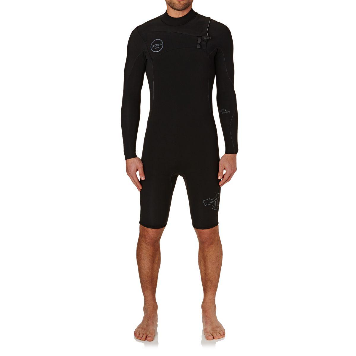 Xcel Infiniti Comp 2mm 2017 Long Sleeve Chest Zip Wetsuit - Black