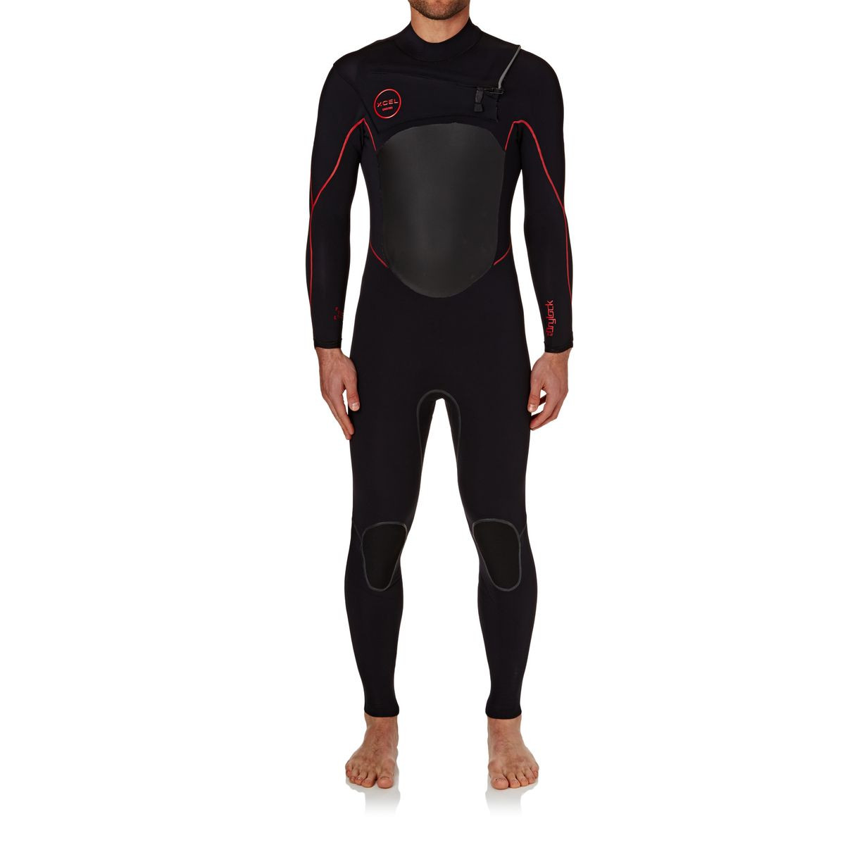 Xcel Drylock 3/2mm TDC 2017 Chest Zip Wetsuit - Black