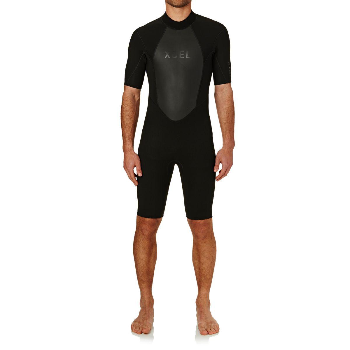 Xcel Axis OS 2mm 2017 Back Zip Short Sleeve Wetsuit - Black