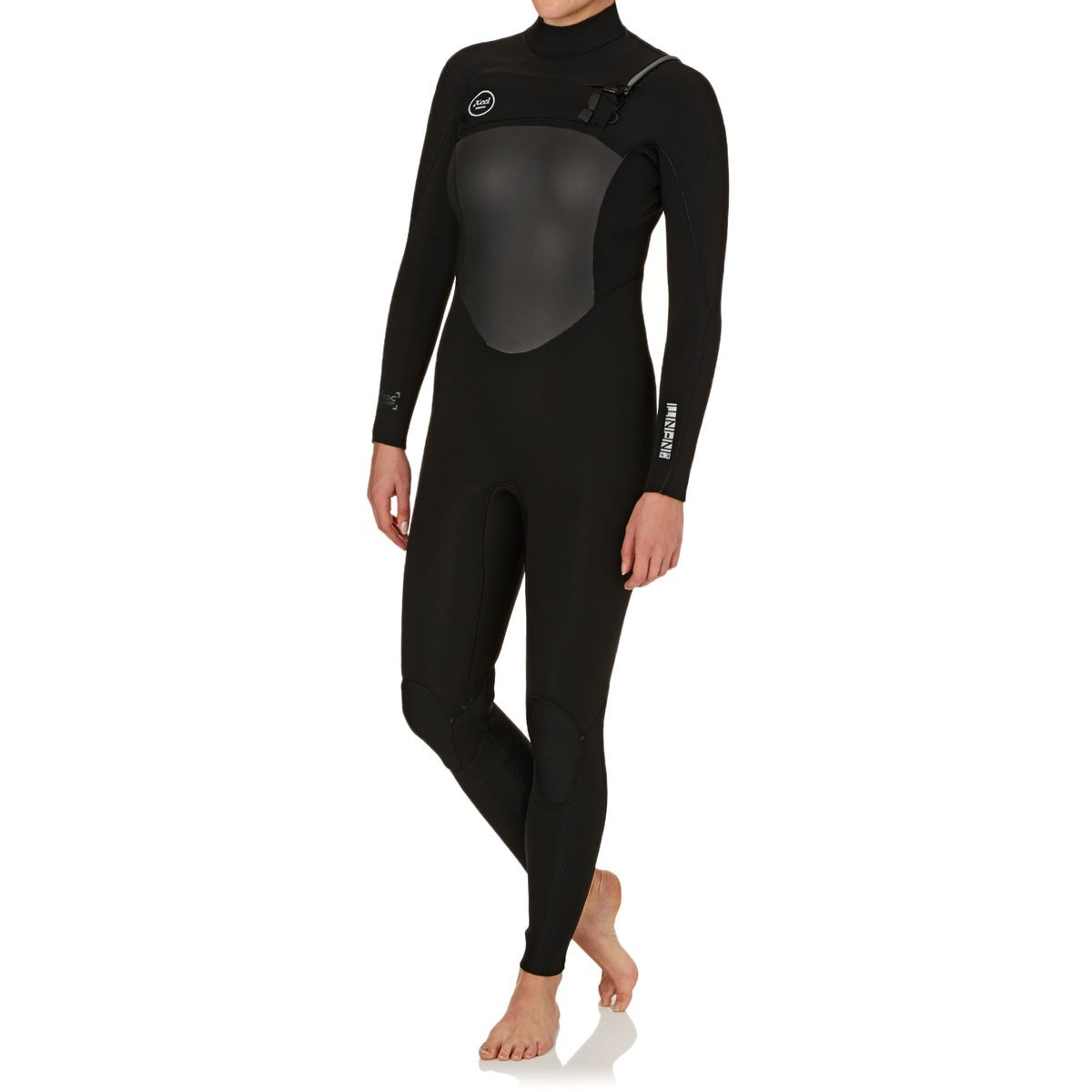 Xcel Womens Infiniti 4/3mm TDC 2017 Chest Zip Wetsuit - Black