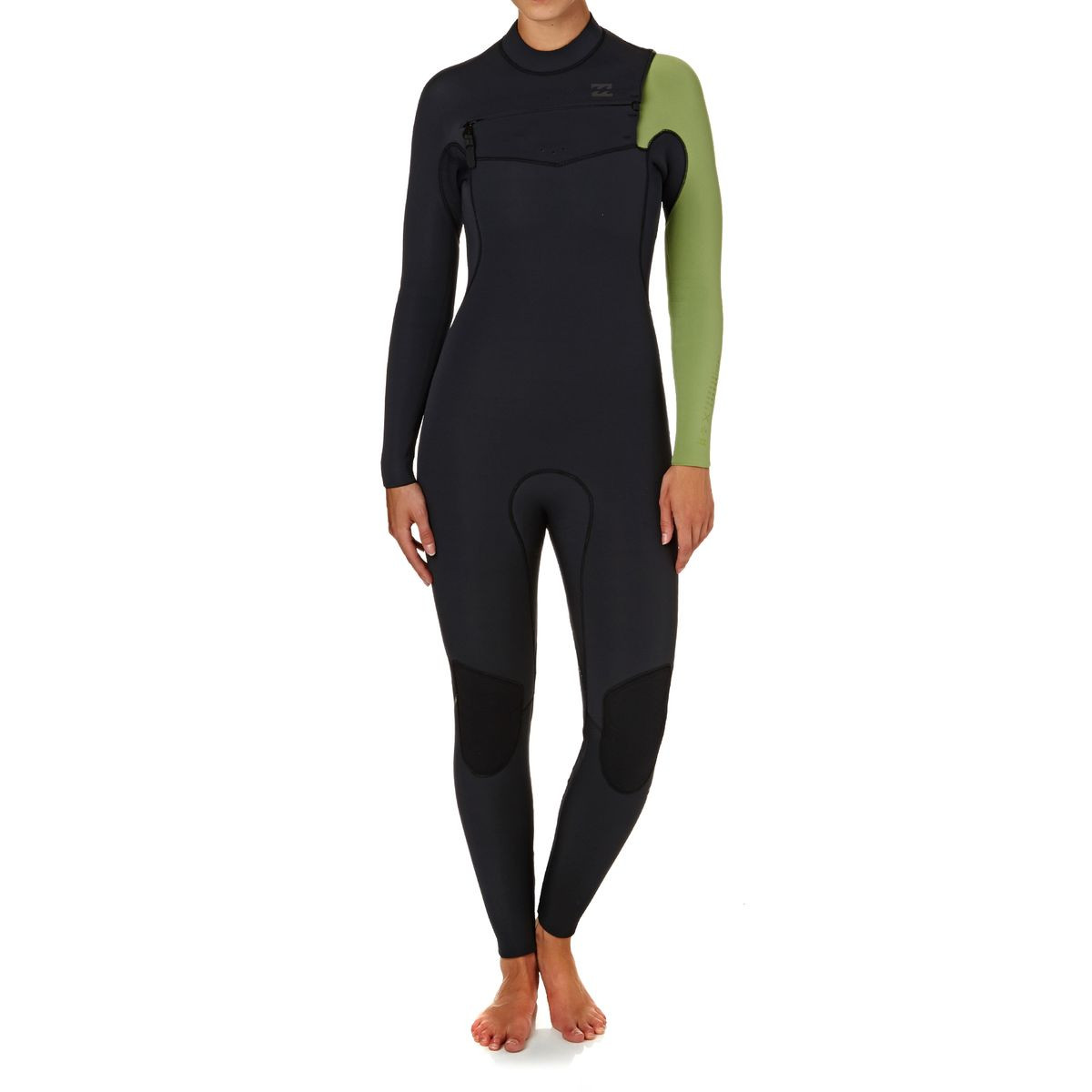 Billabong Womens Furnace Comp 5/4mm 2018 Chest Zip Wetsuit - Black Sands